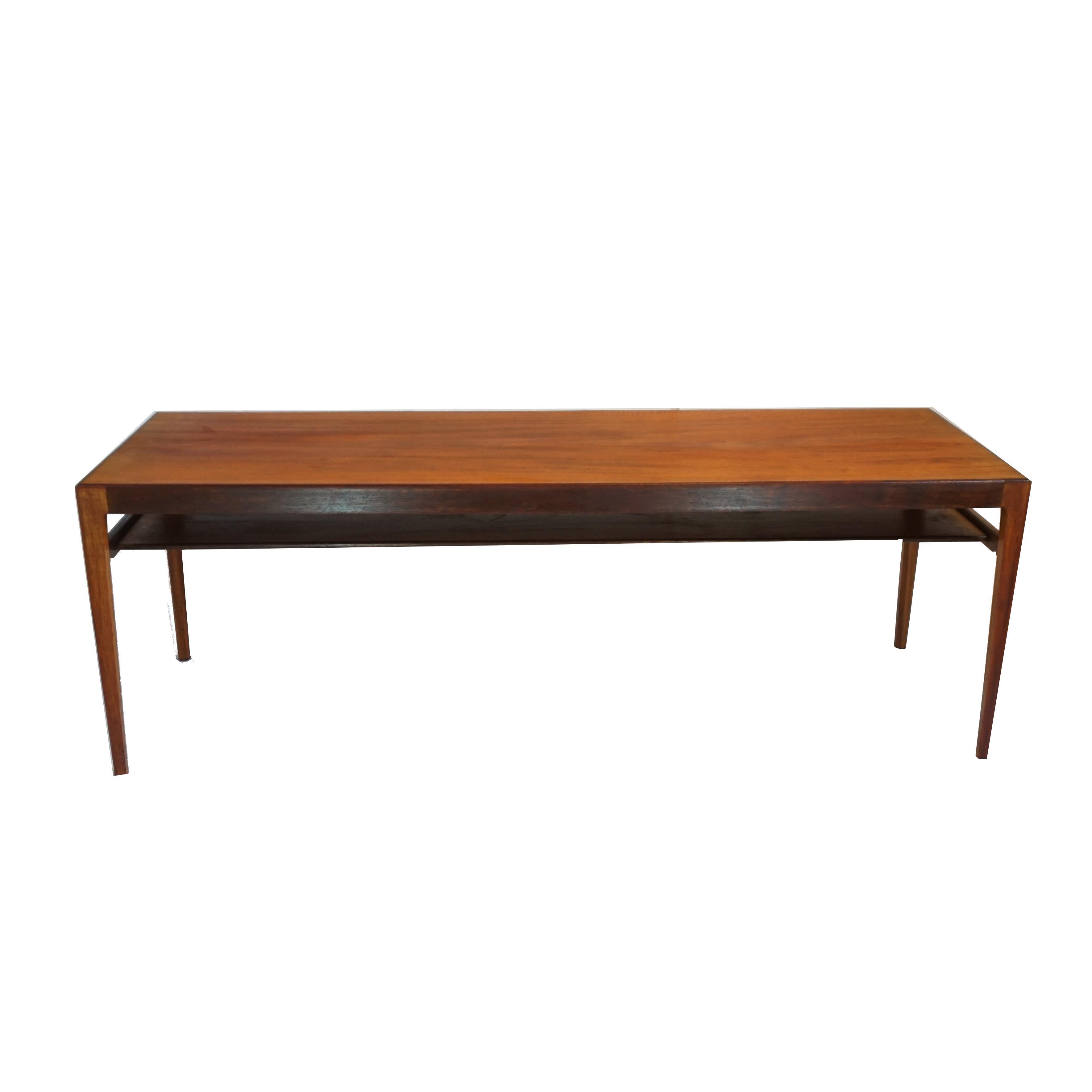 Ludvig pontoppidan teak rosewood long coffee table chairish geotapseo Choice Image