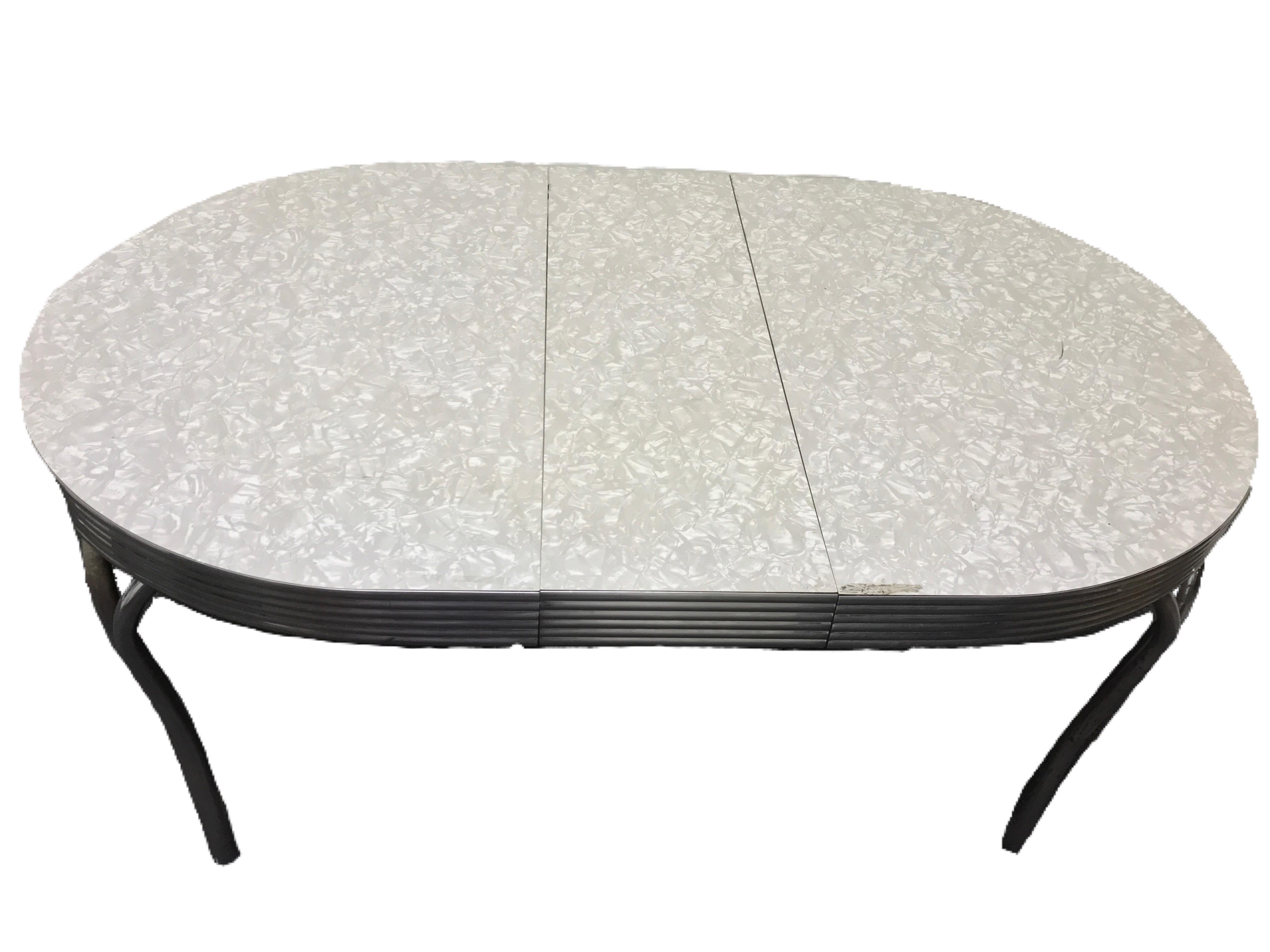 Vitro Vintage Cracked Ice Formica Amp Chrome Dinette Table