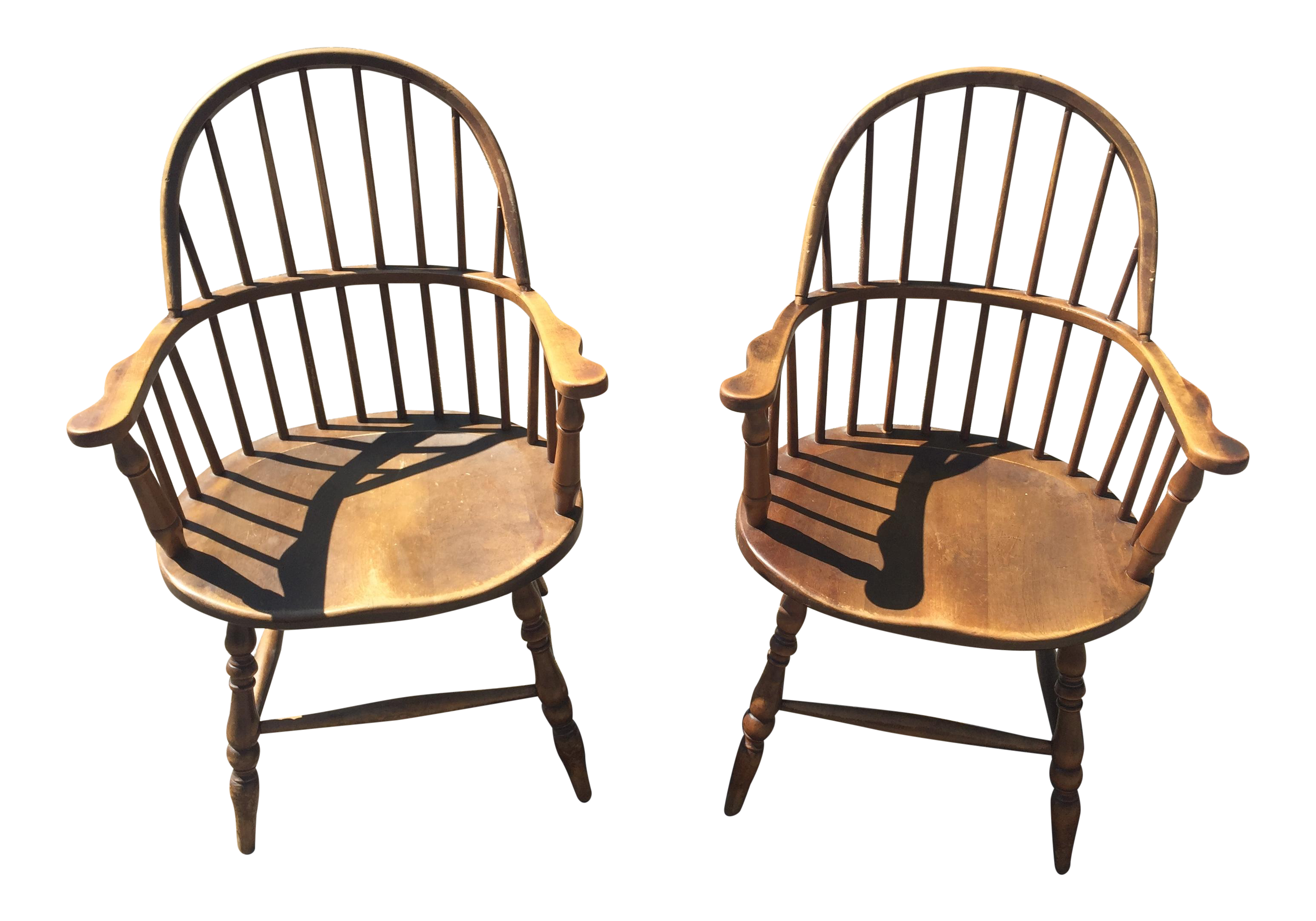 Stickley Brothers Windsor Chairs Pair Chairish