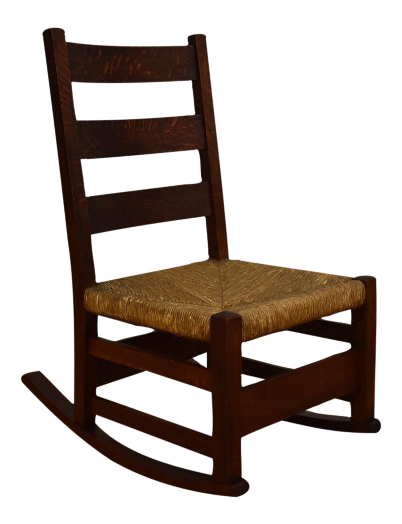 gustav stickley nursery rocking chair chairish. Black Bedroom Furniture Sets. Home Design Ideas