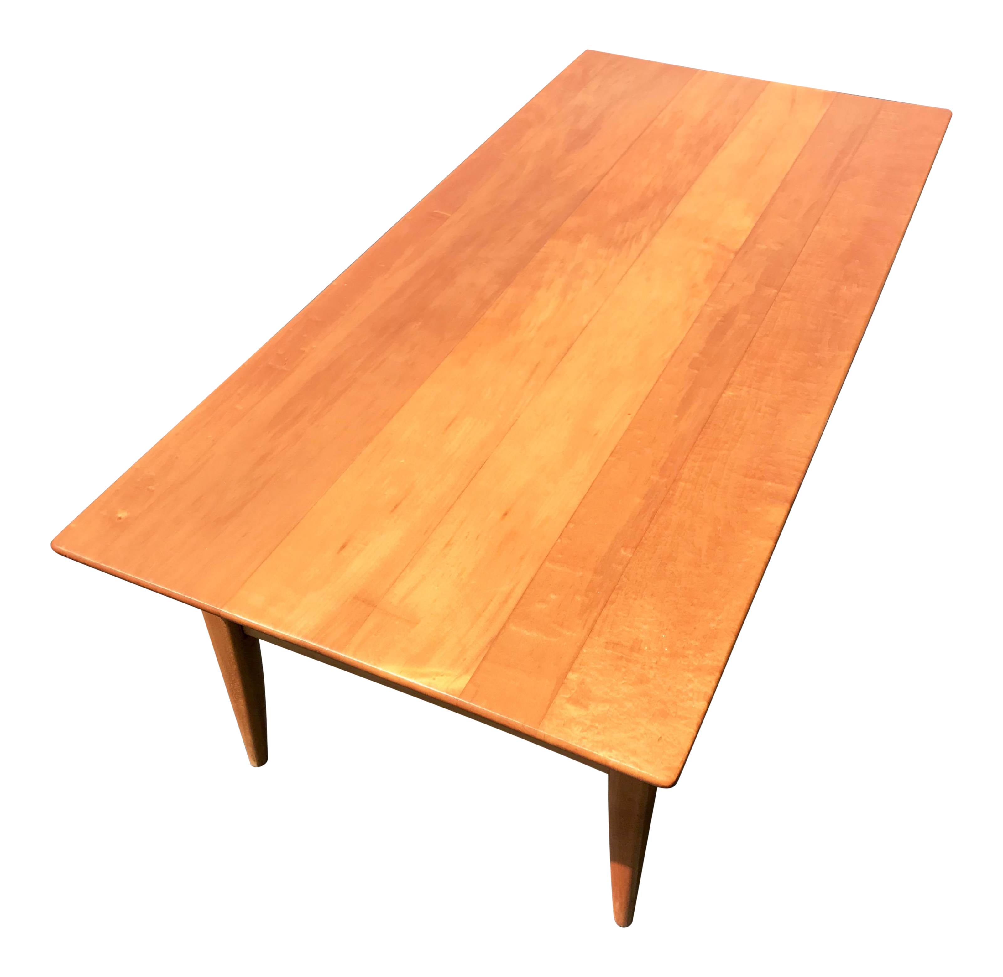 Mid-Century Two Level Maple Coffee Table