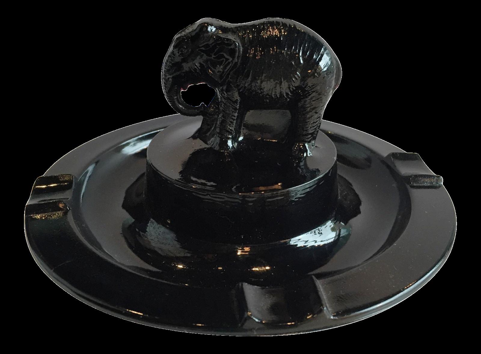 Black Amethyst Elephant Ashtray Chairish