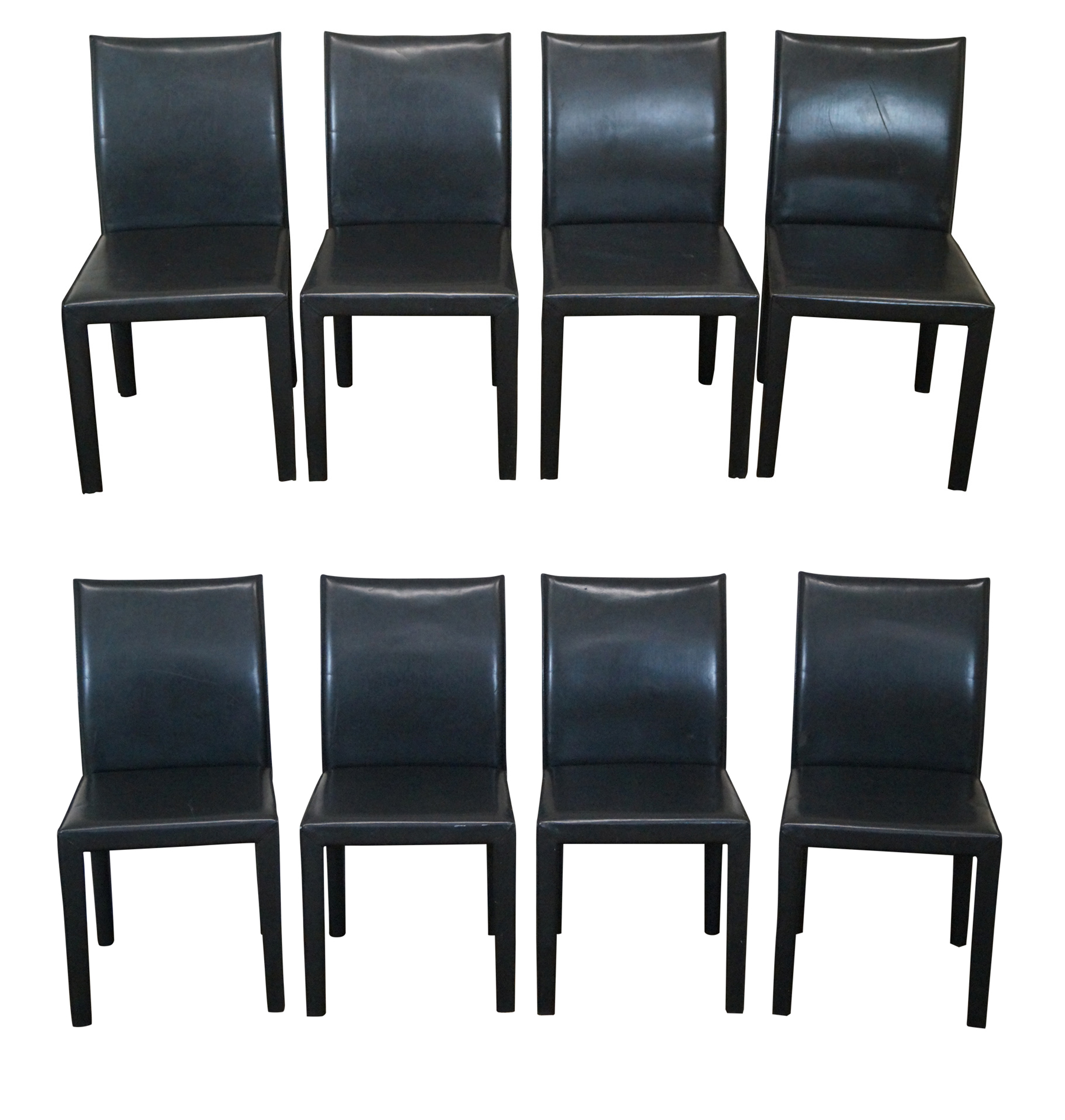 Leather Mondo Dining Chairs By Maria Yee Set Of 8 Chairish