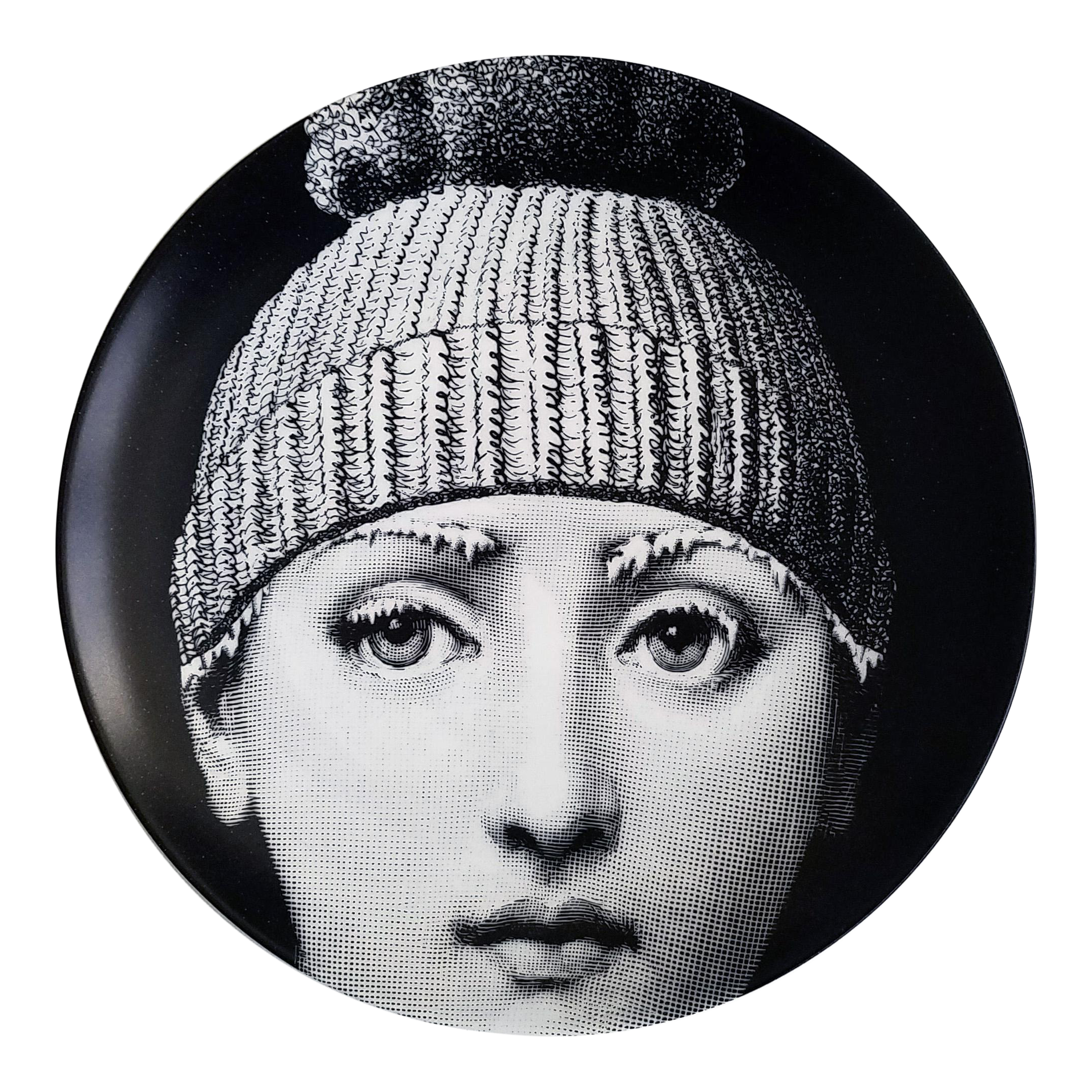 Fornasetti Tema E Variazioni Plate, Number 374, The iconic image of Lina  Cavalieri. Barnaba Fornasetti. | Chairish