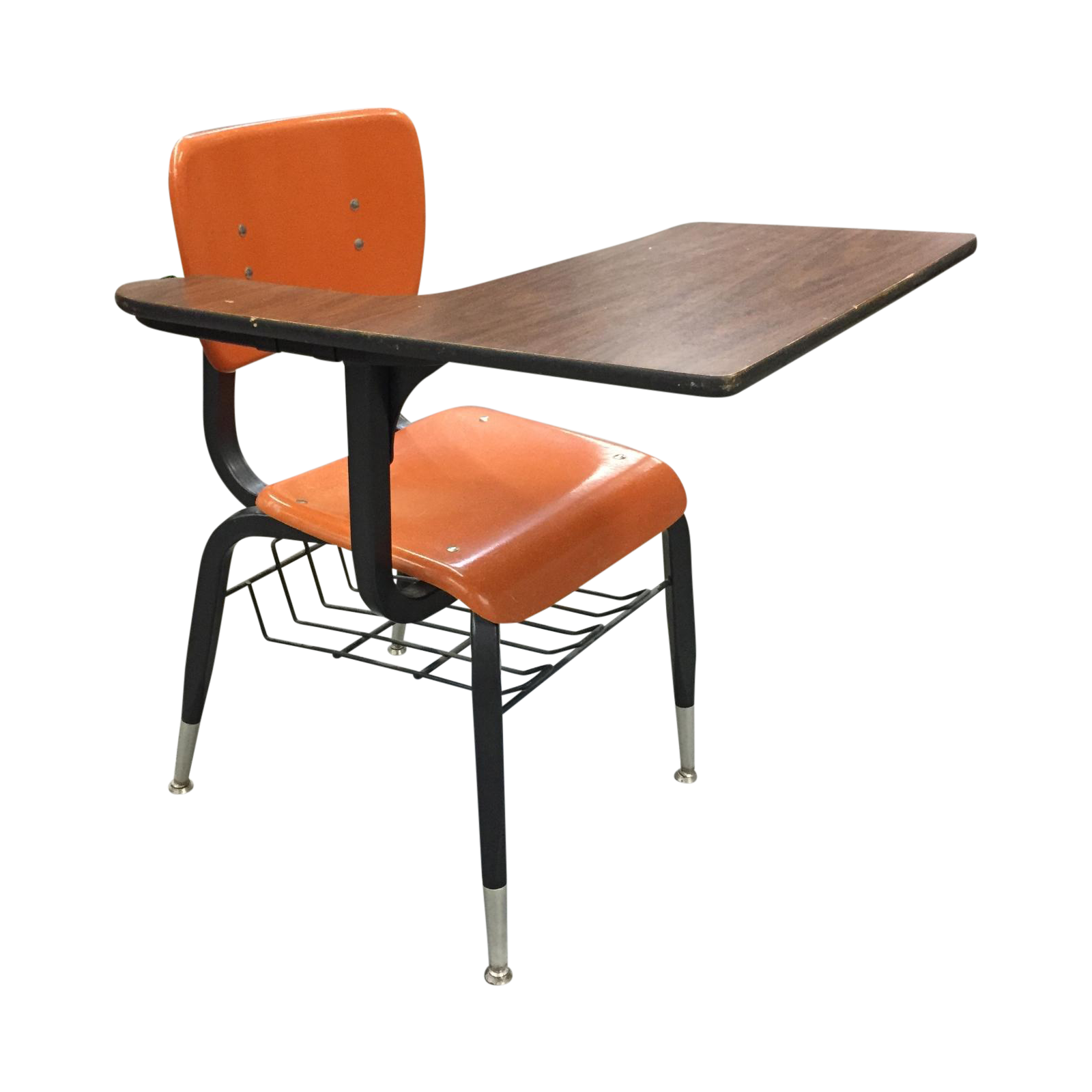 Vintage Orange School Desk Chair Chairish