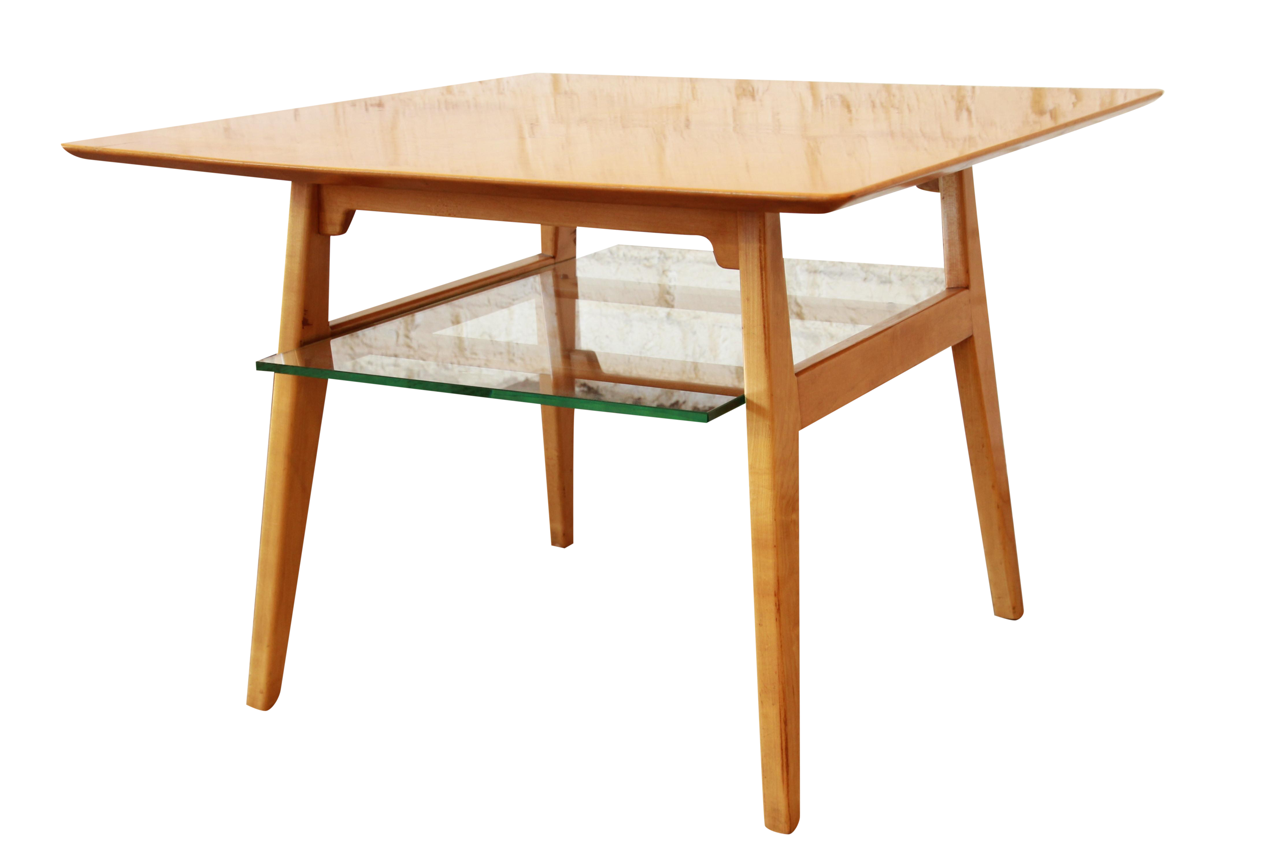 Jens risom mid century modern maple cocktail table chairish geotapseo Choice Image