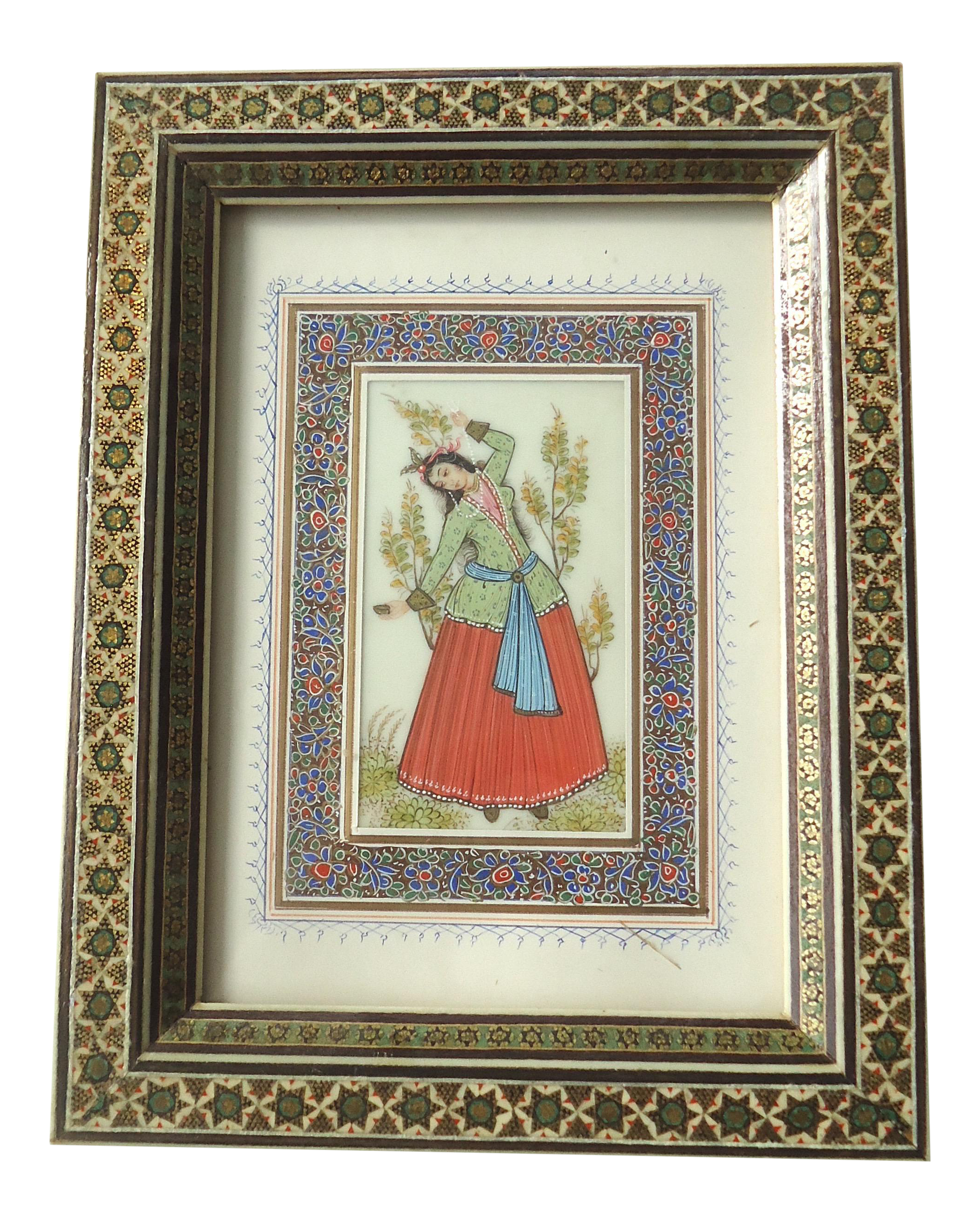 Vintage Persian Woman Painting | Chairish