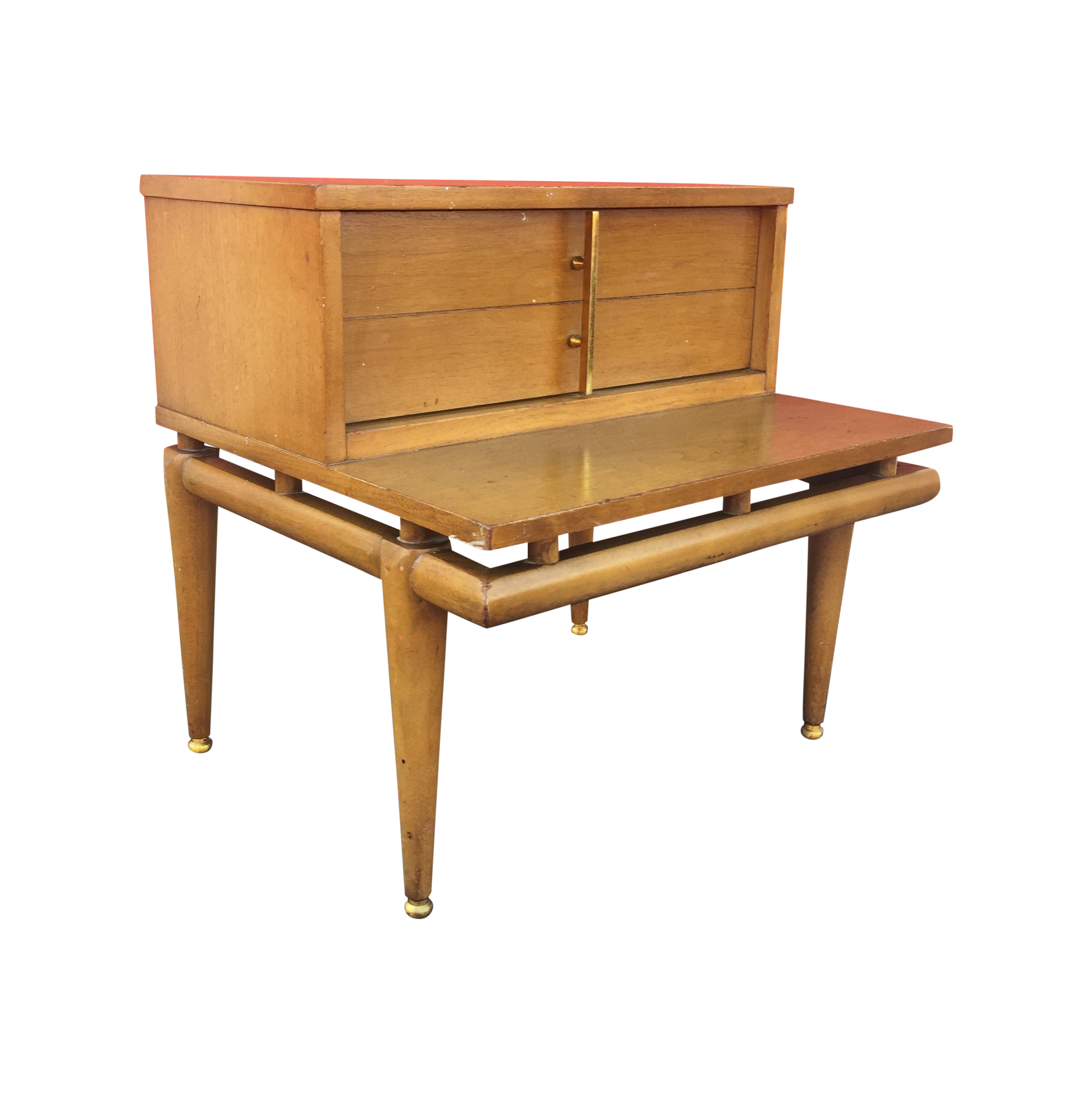 Mid century end table with drawer by kent coffee chairish for C table with drawer