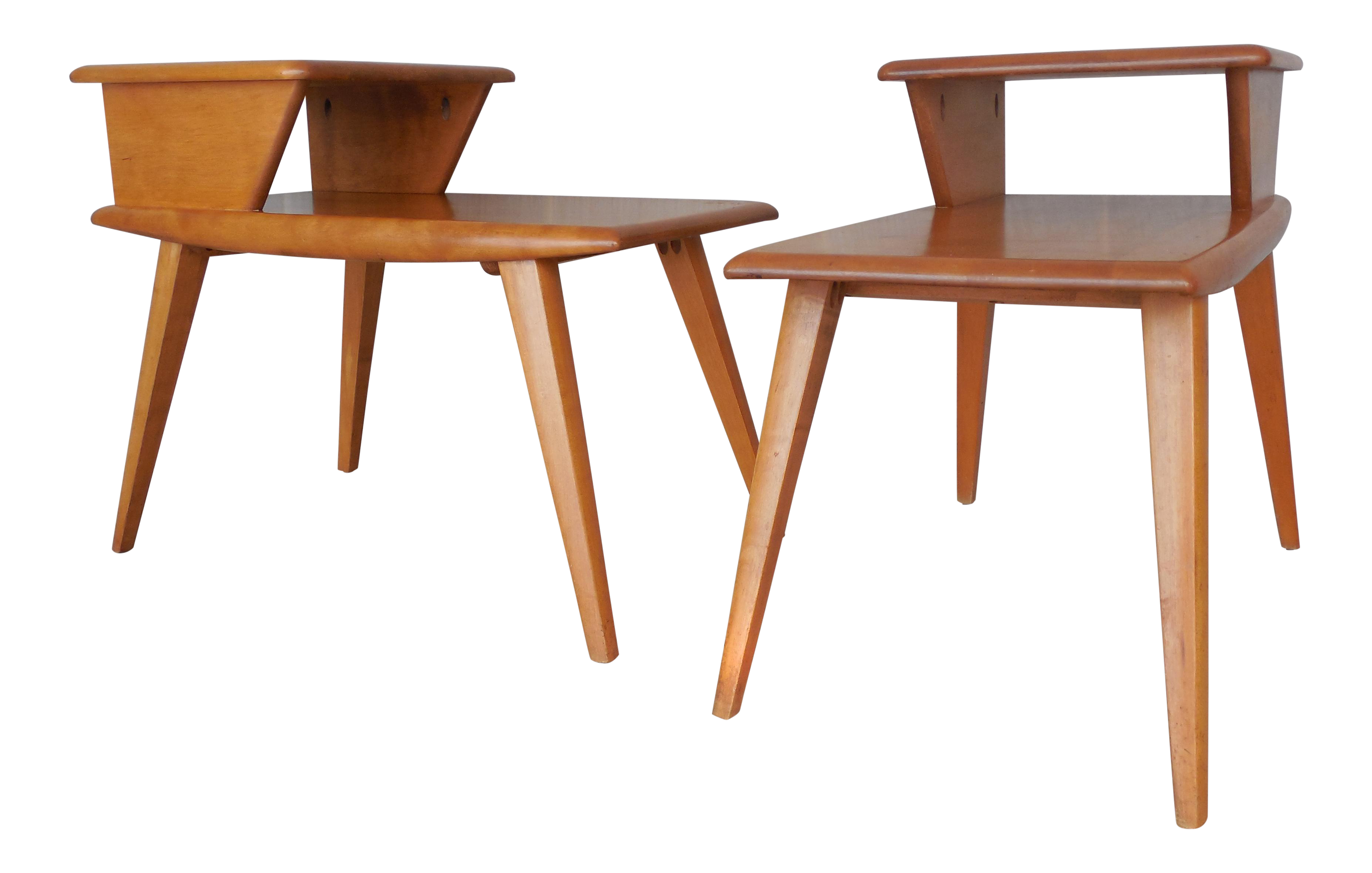Heywood Wakefield Mid Century End Tables A Pair Chairish