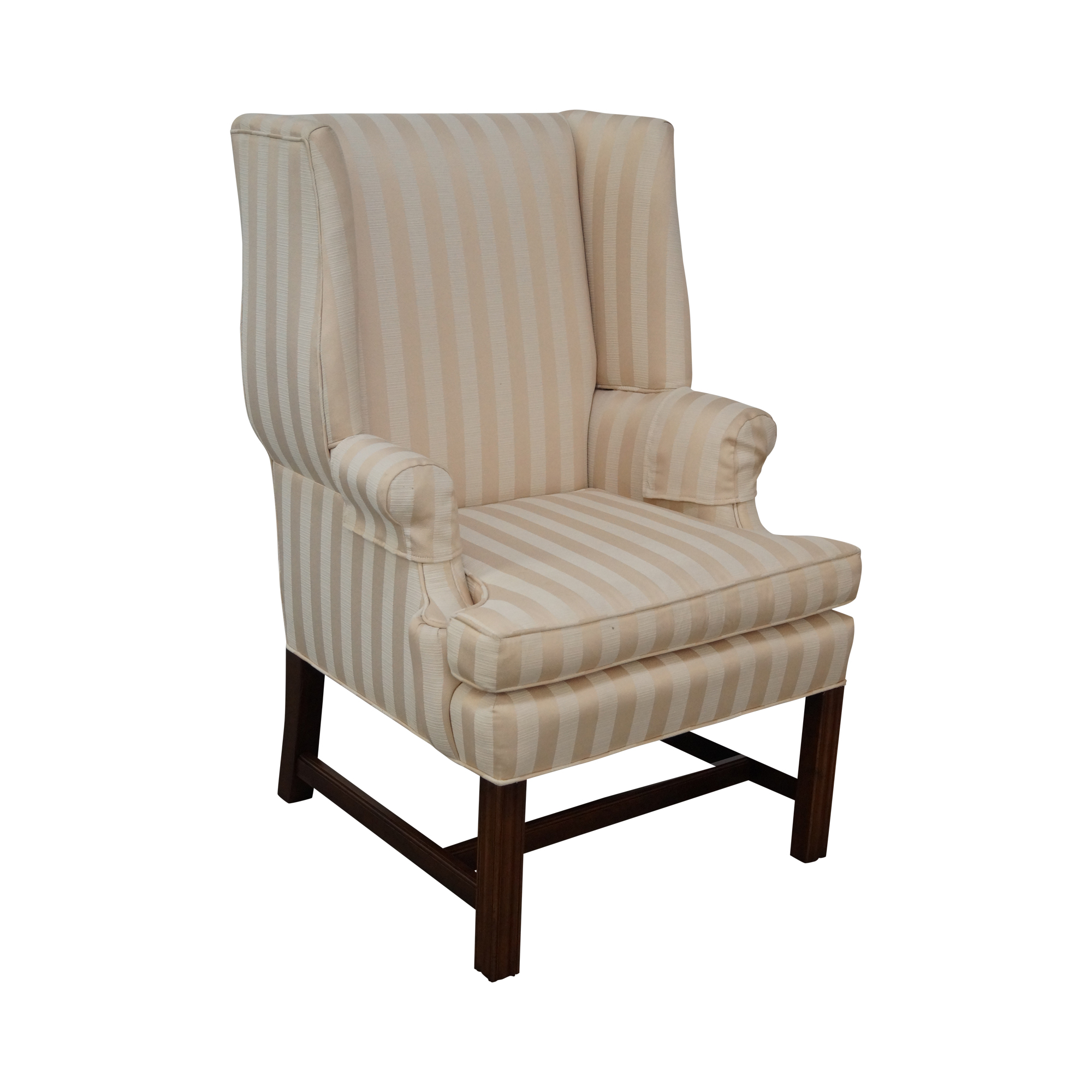 Quality Chippendale Style Mahogany Wing Chair Chairish