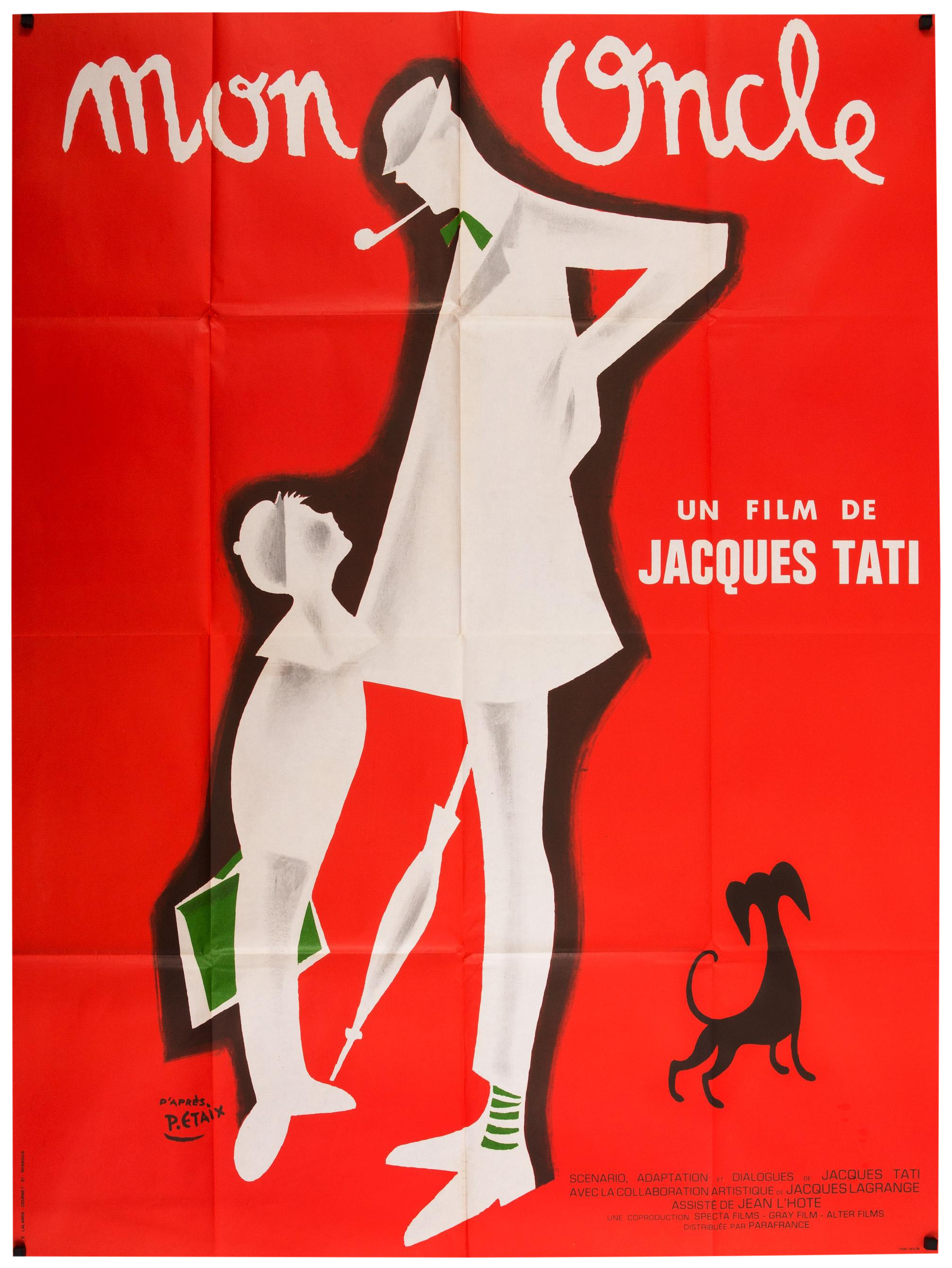 jacques tati 39 mon oncle 39 french film poster chairish. Black Bedroom Furniture Sets. Home Design Ideas