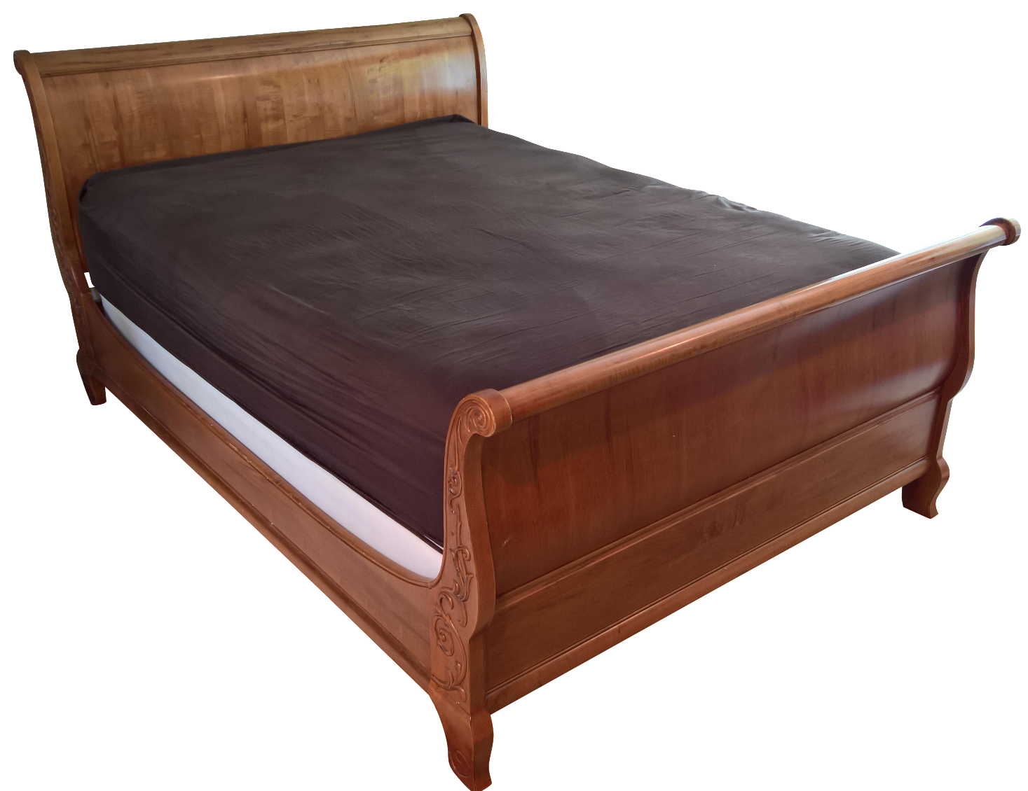 Ethan allen legacy queen sleigh bed chairish - Ethan allen queen beds ...