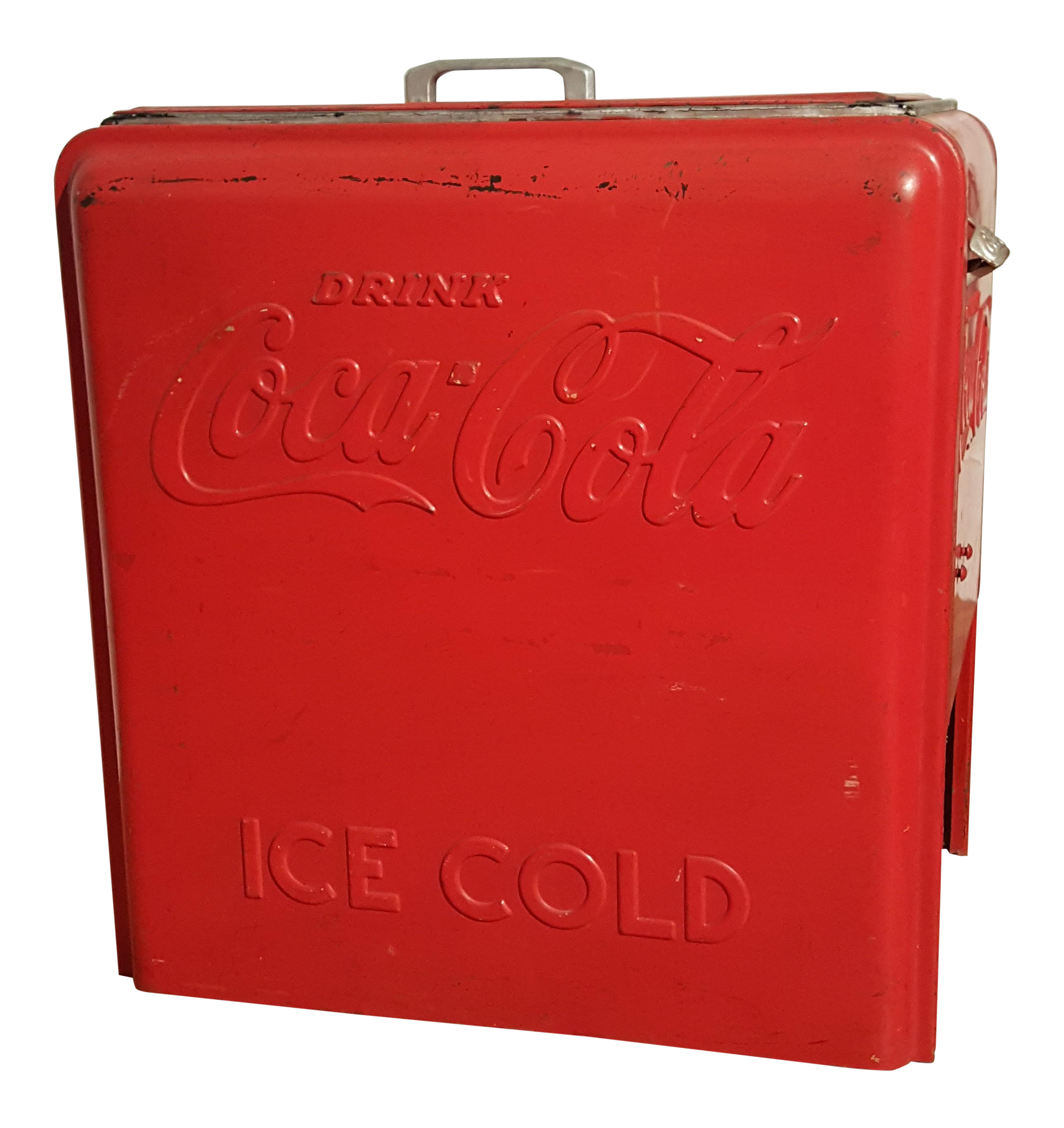 vintage coca cola ice chest circa 1930 39 s chairish. Black Bedroom Furniture Sets. Home Design Ideas