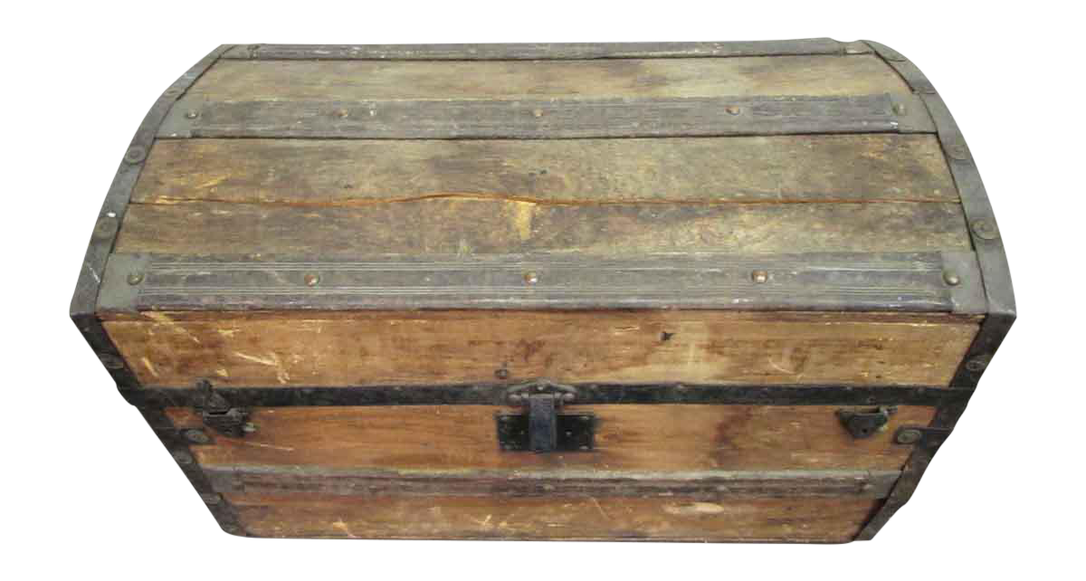 Northwestern Wood Iron Trunk Chairish