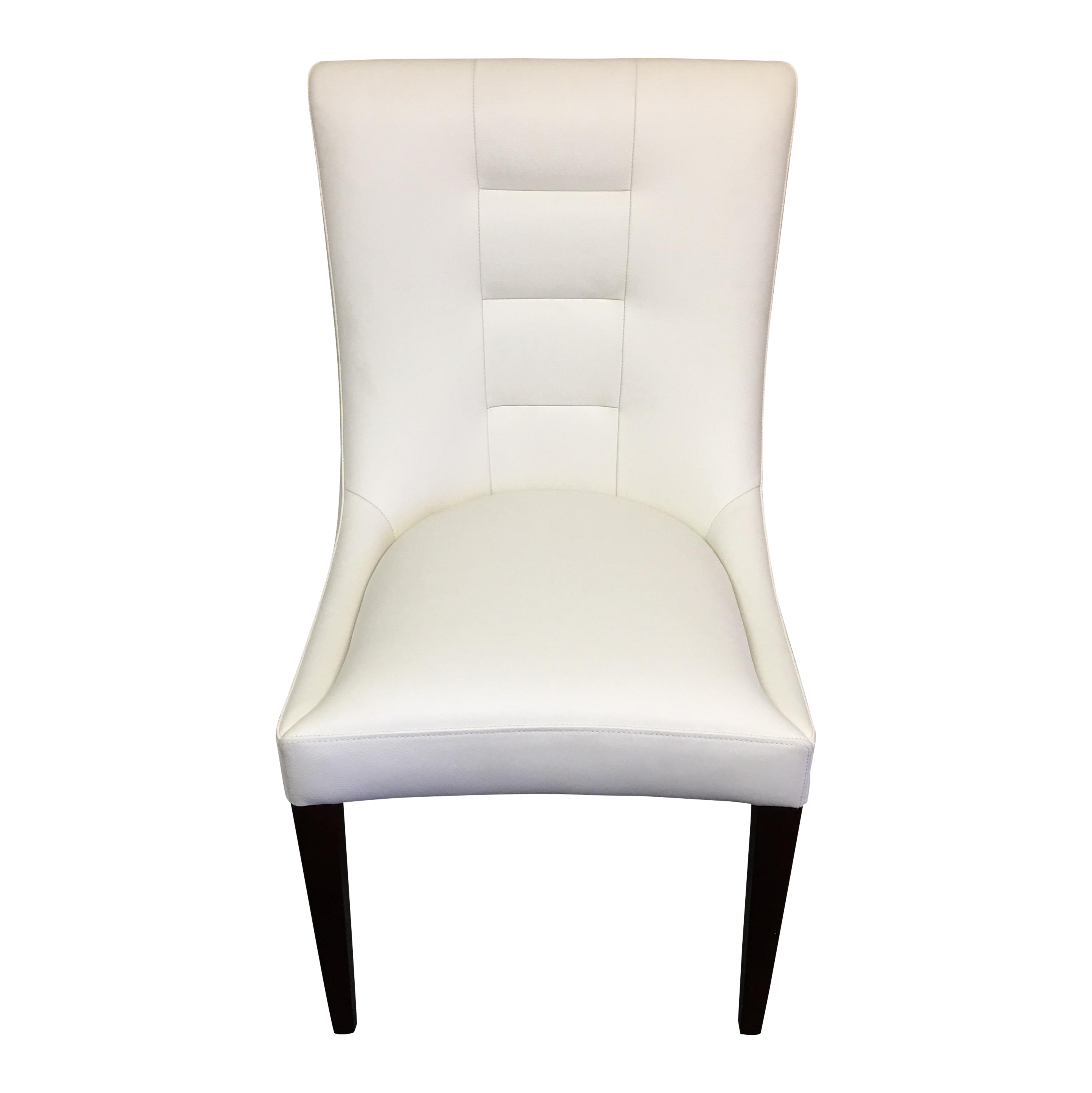 Dakota Jackson White Leather Marina Odile Chair Chairish
