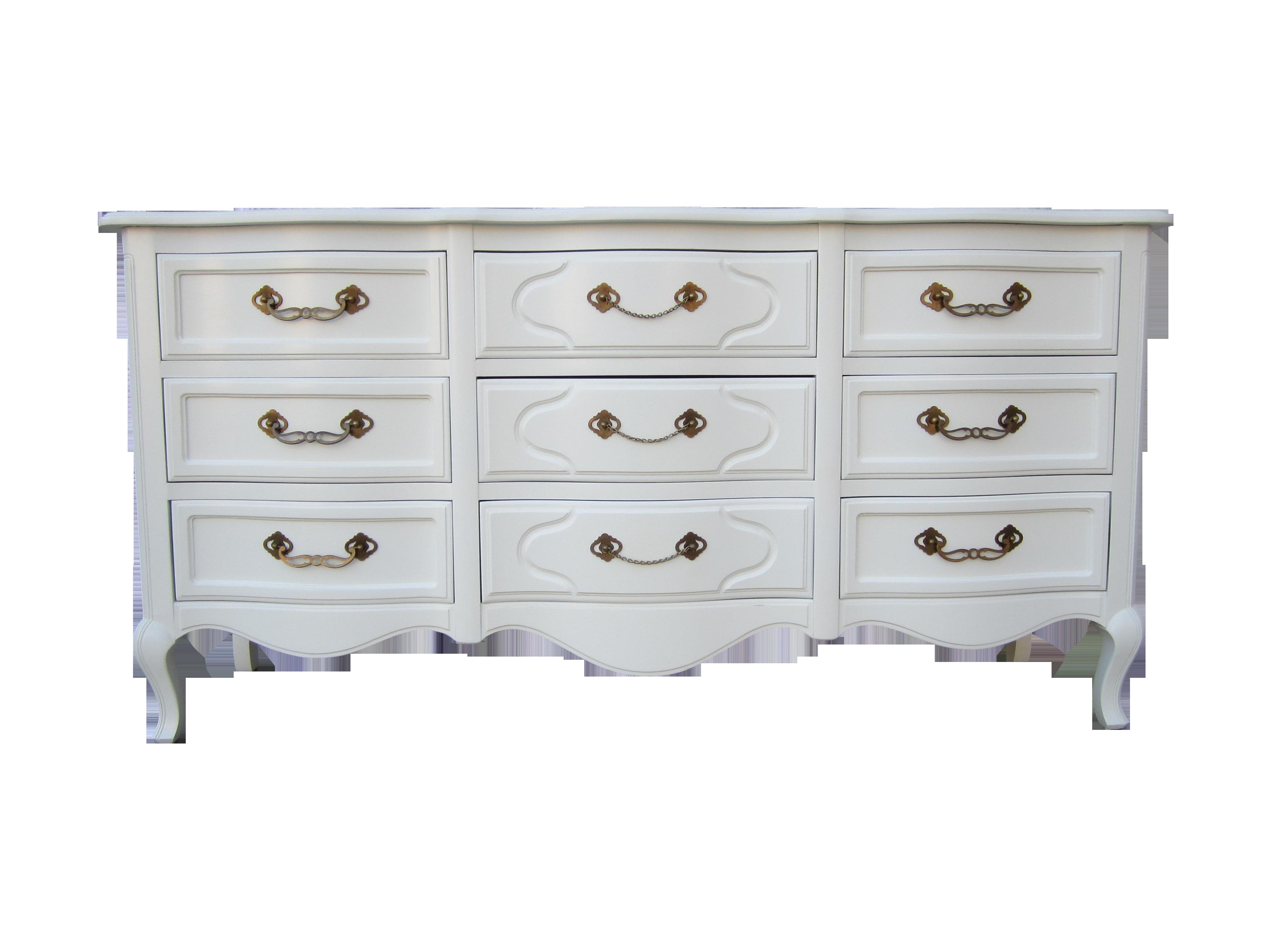 White Antique Dresser drexel white vintage french country dresser | chairish