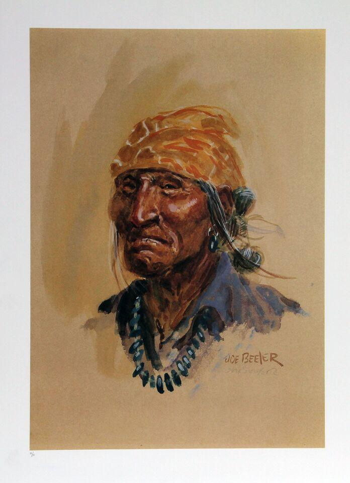 Joe Beeler Quot Navajo Quot Lithograph Chairish