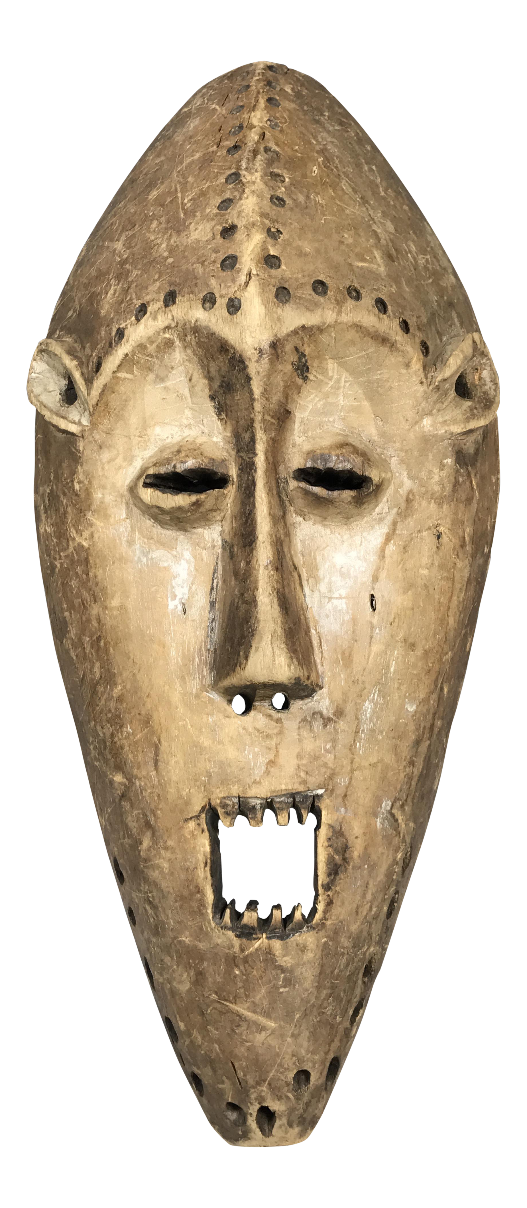 African Art Tribal Art Lega Mask From Democratic Republic