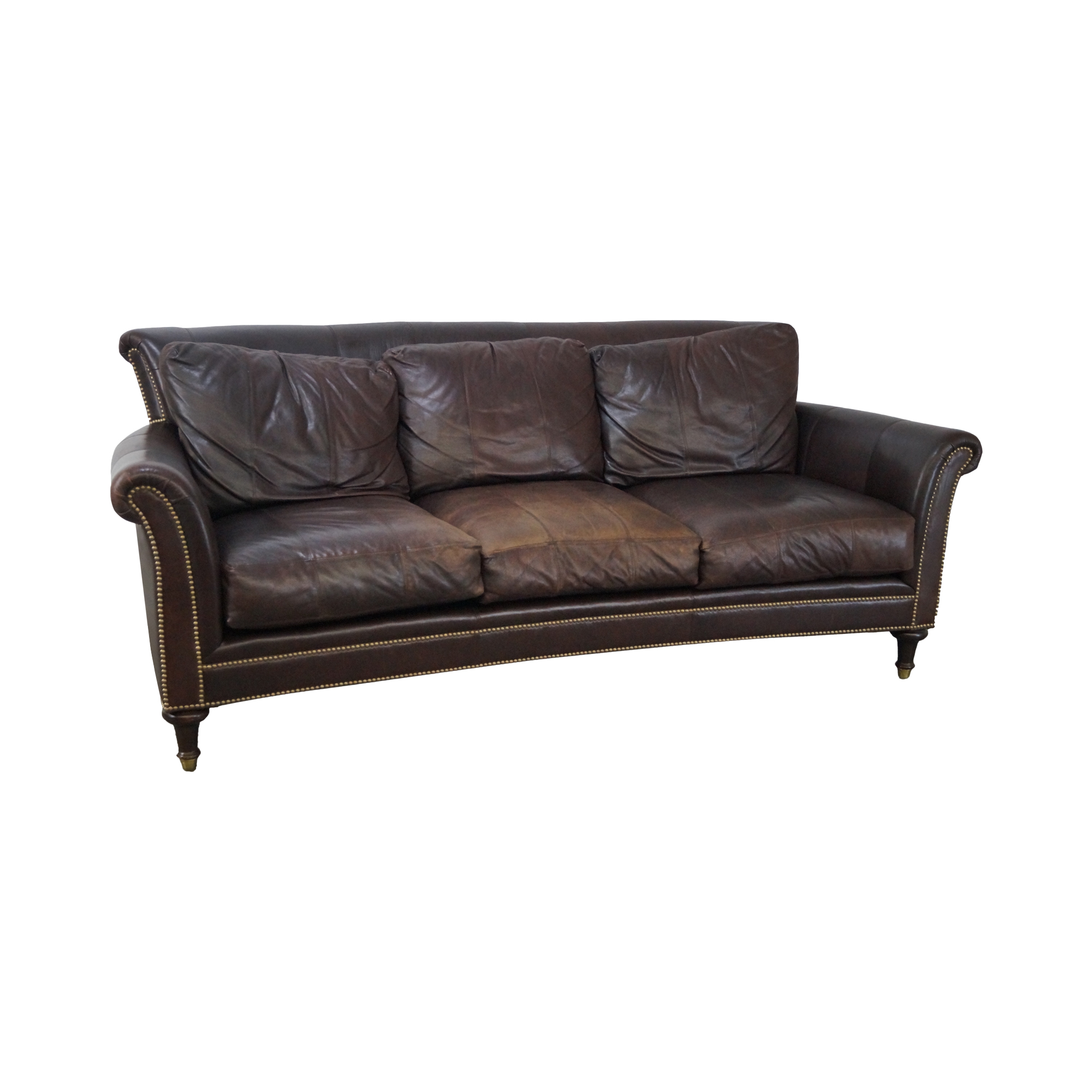 Ferguson Copeland Surrey Brown Leather Sofa
