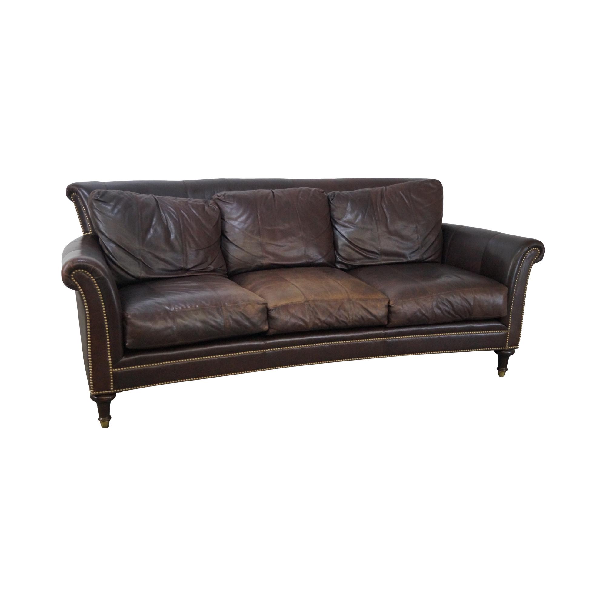 Ferguson Copeland Surrey Brown Leather Sofa Chairish