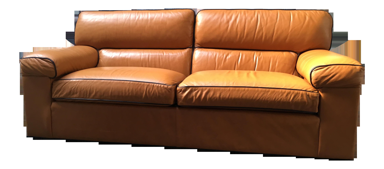 Ethan allen modern leather sofa chairish for Leather sectional sofa ethan allen