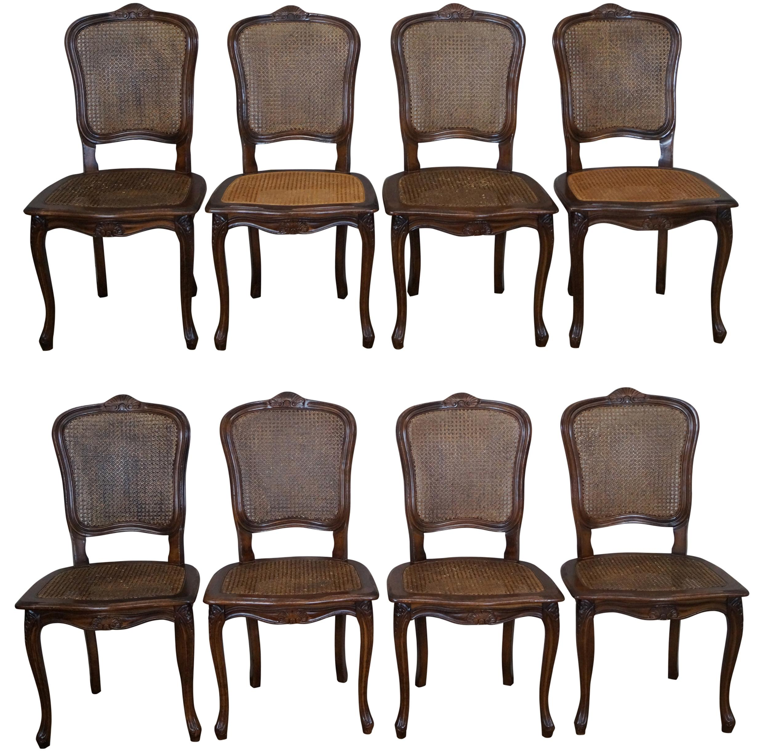 Louis xv dining chair - Image Of French Louis Xv Cane Dining Chairs Set Of 8