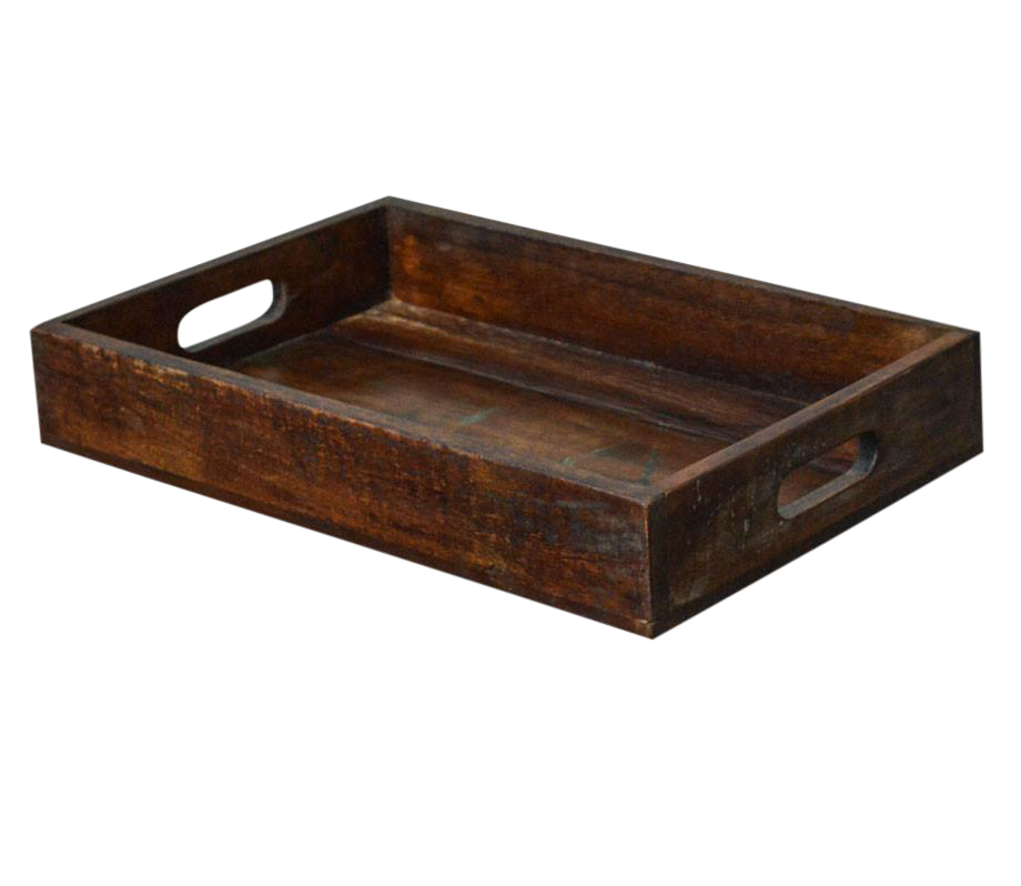 Primitive Style Reclaimed Wood Rustic Serving Tray Chairish