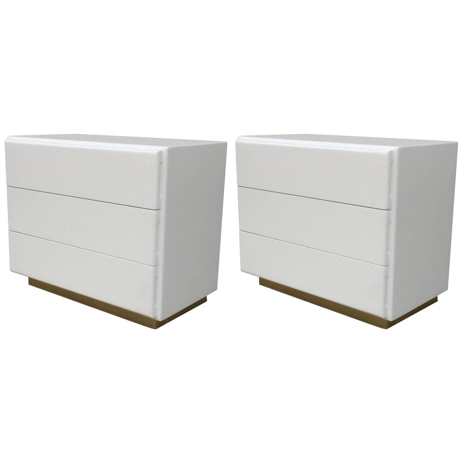 Large Nightstands Or Chest By Milo Baughman 2 Chairish