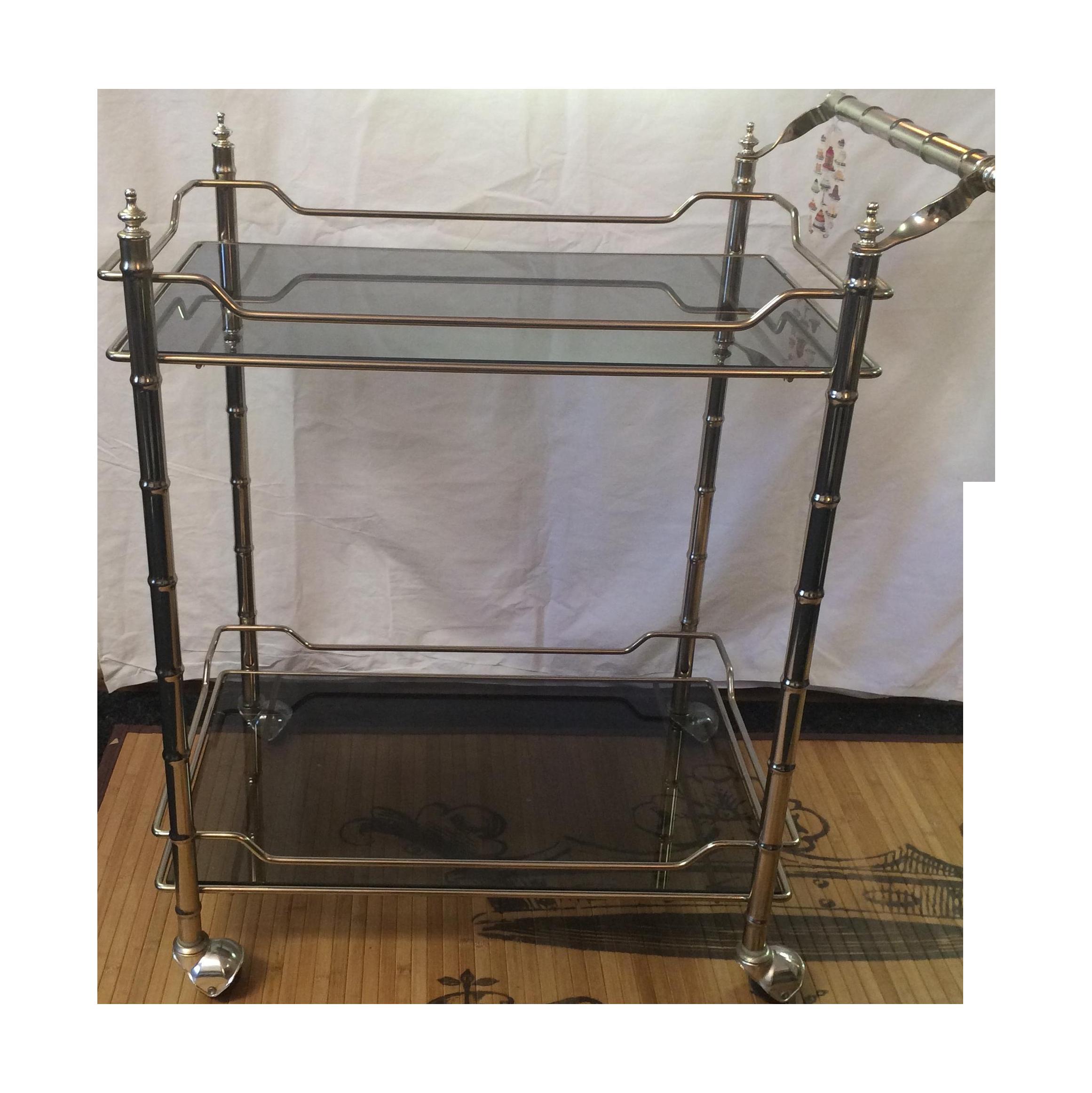 Hollywood Regency Rolling Bar Cart Chairish