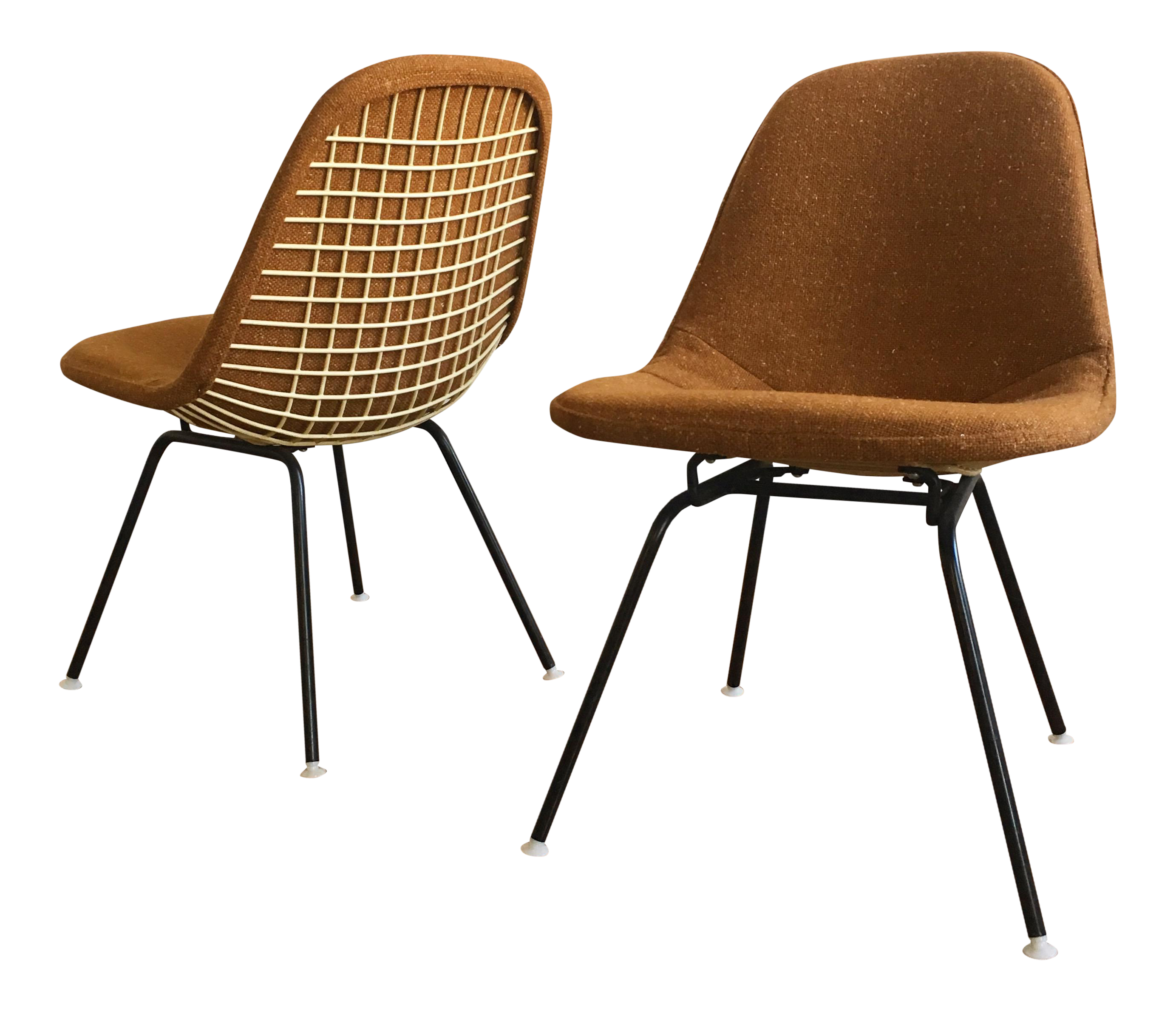 Herman Miller Eames Wire Chairs With Alexander Girard Covers A