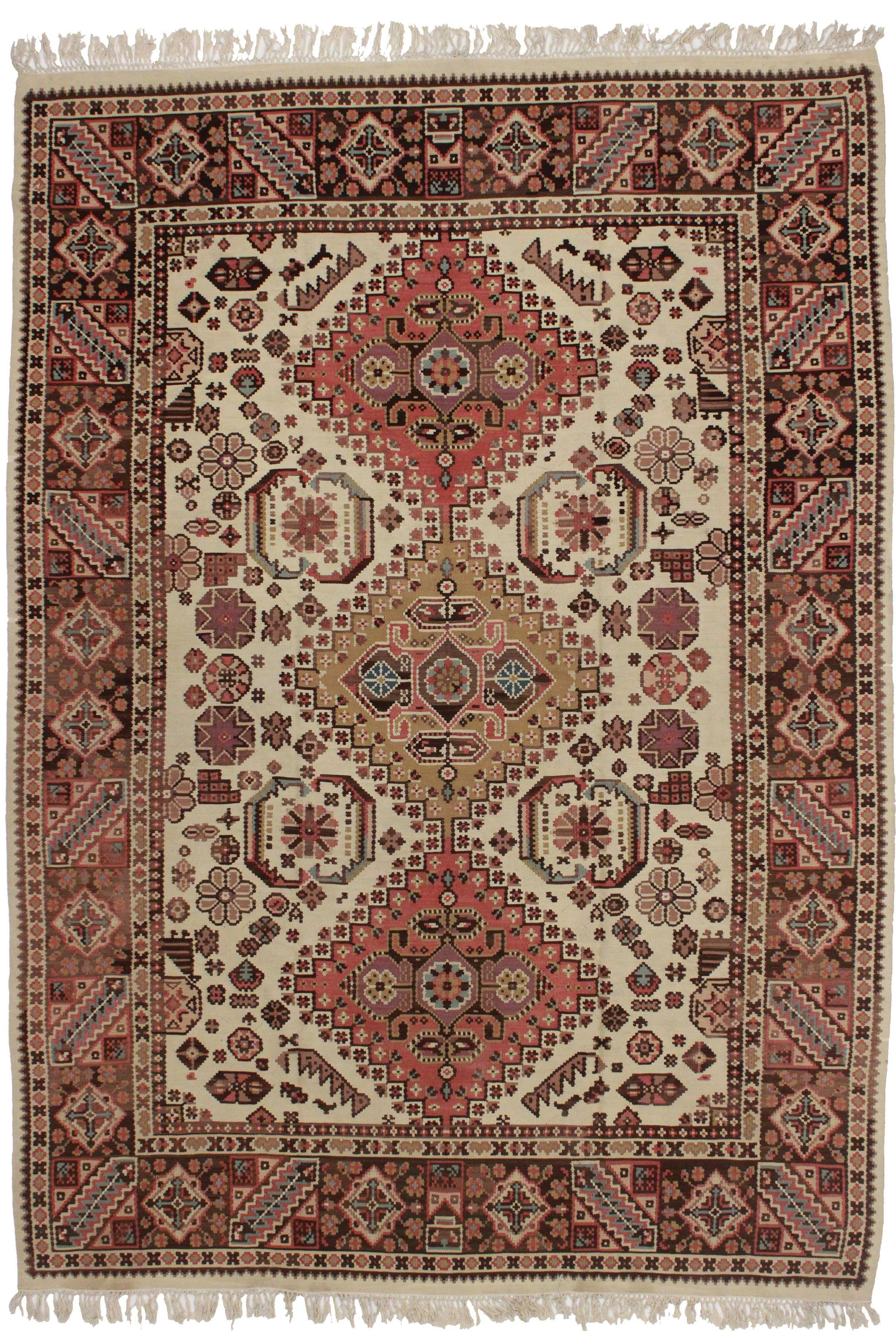 Vintage Turkish Kilim Area Rug 7 1 Quot X 9 8 Quot Chairish