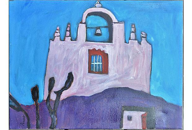 Larry Powell Mount Carmel Church Painting Chairish