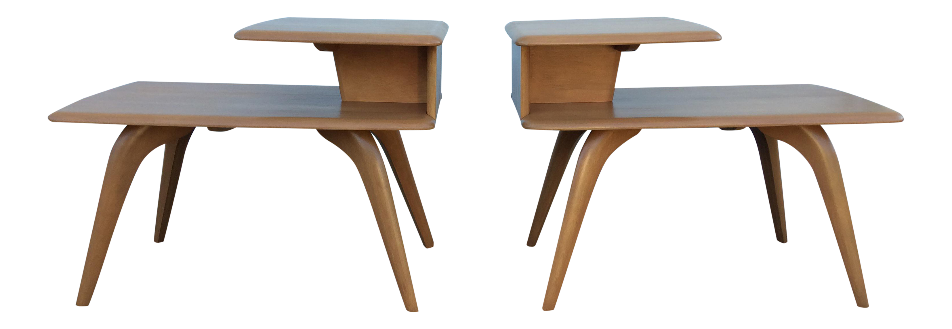 Heywood Wakefield Champagne End Tables A Pair Chairish