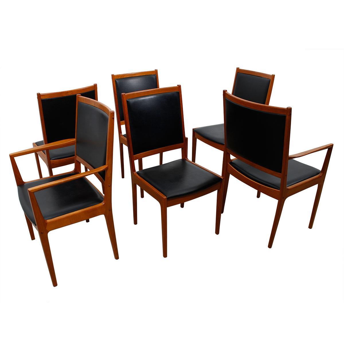 Rare kofod larsen tall wide danish modern teak dining for Modern dining chairs ireland