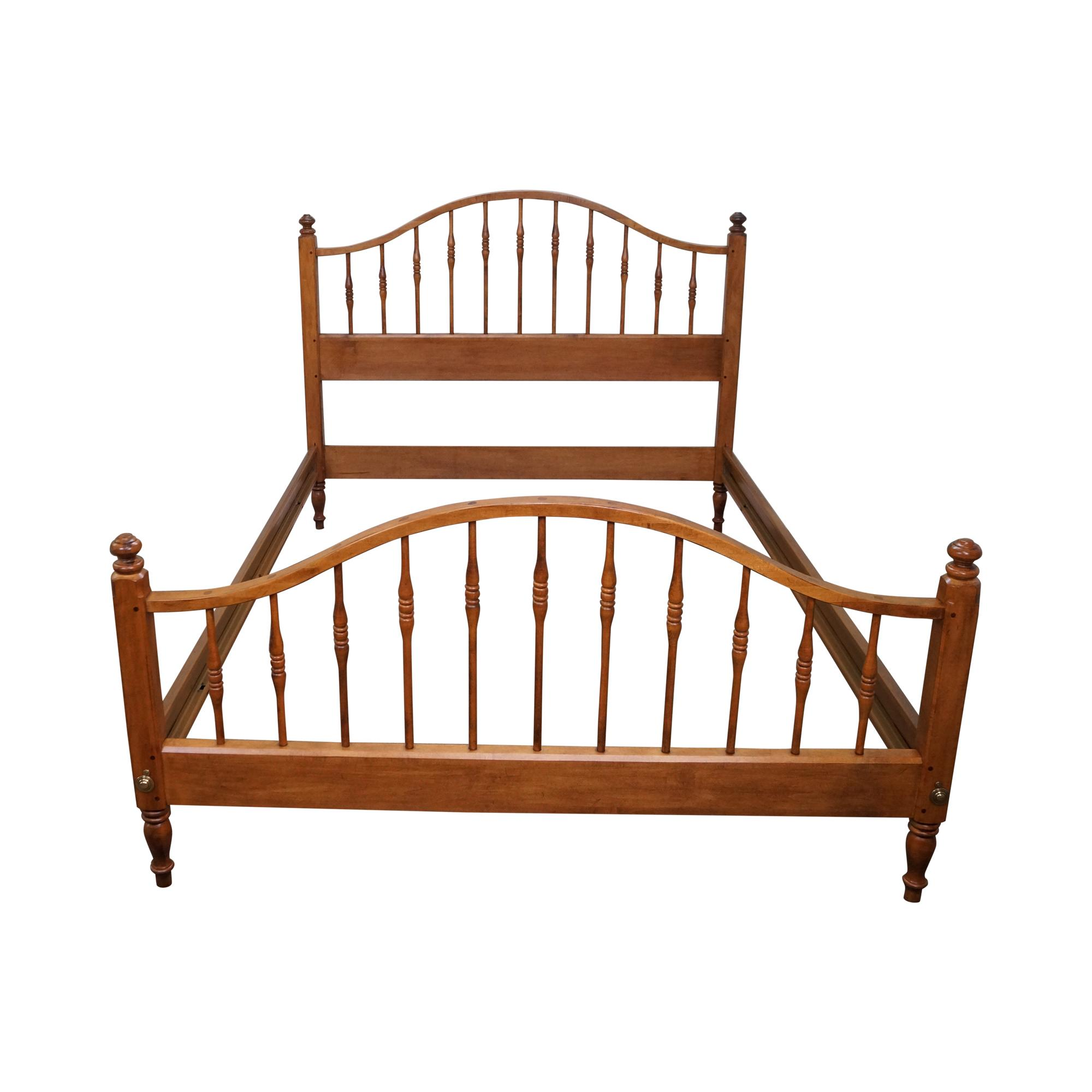 ethan allen beds ethan allen size maple bed chairish 11517