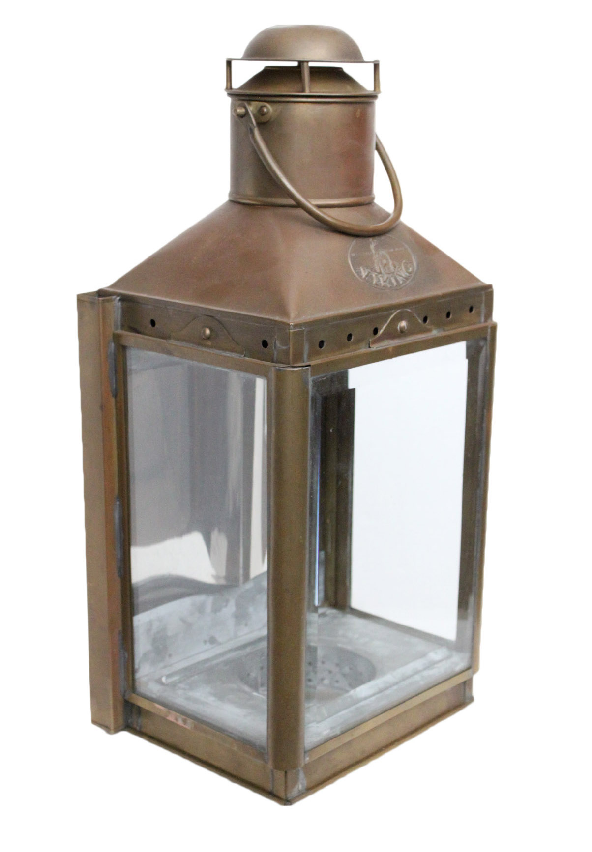 Viking Vintage Brass Lantern Chairish