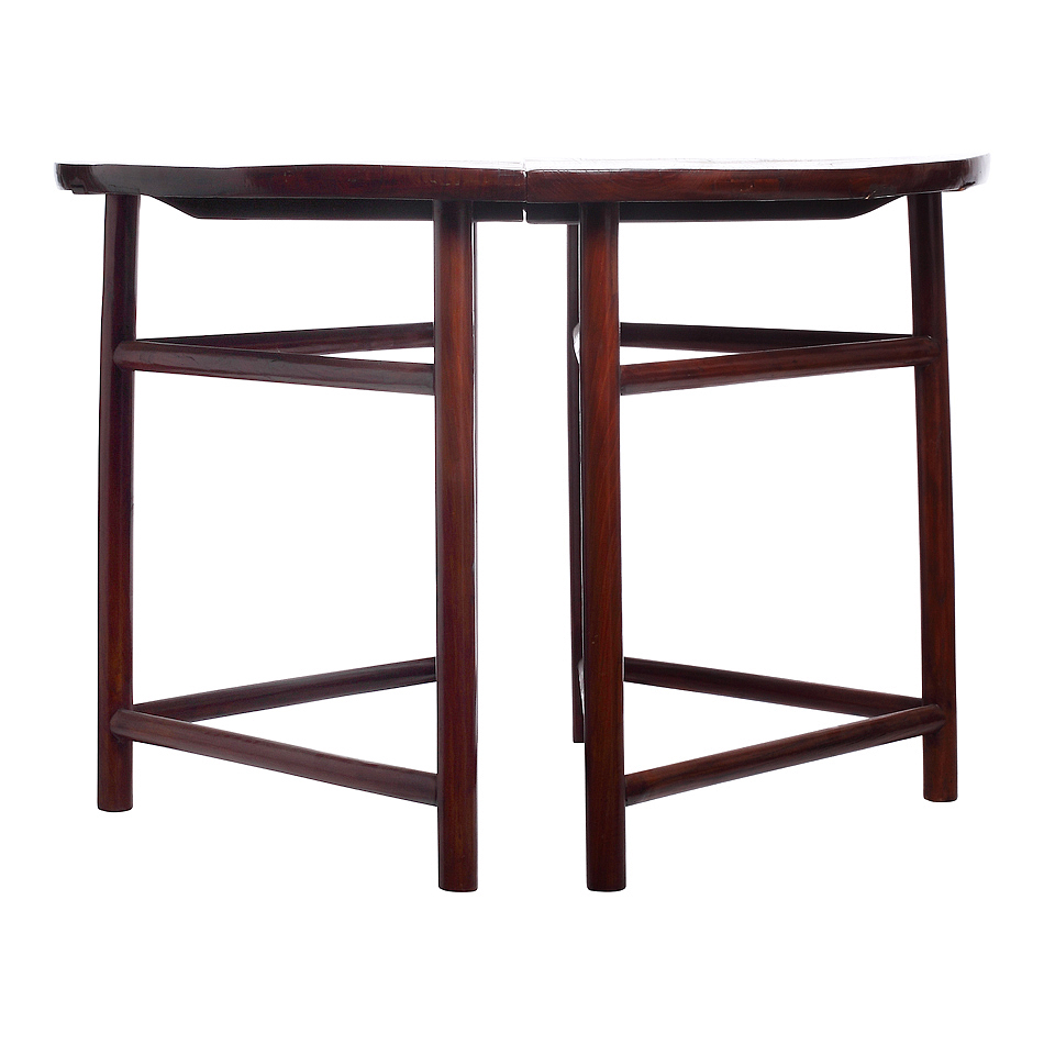 Demi lune tables a pair chairish for Table demi lune extensible