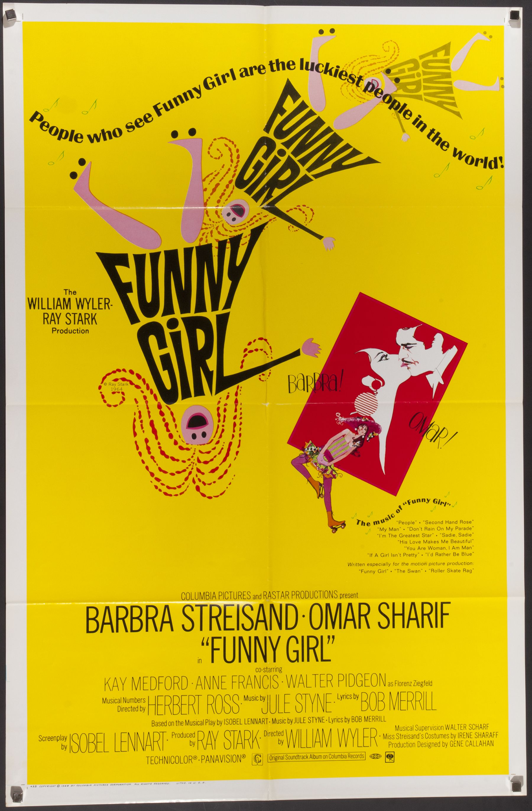 Original Funny Girl 1968 Film Poster Chairish