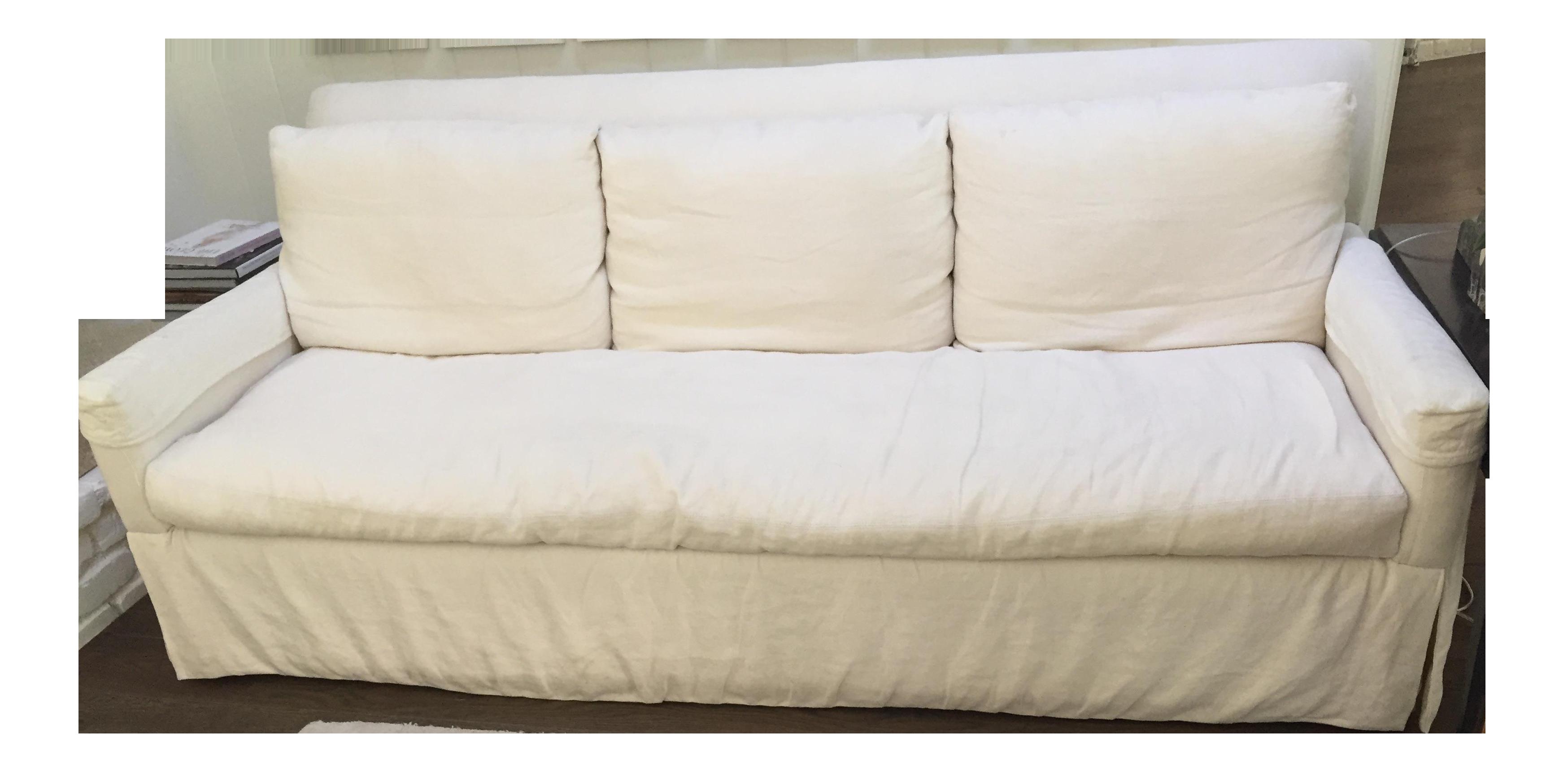 Crate & Barrel Belgian Linen Sofa
