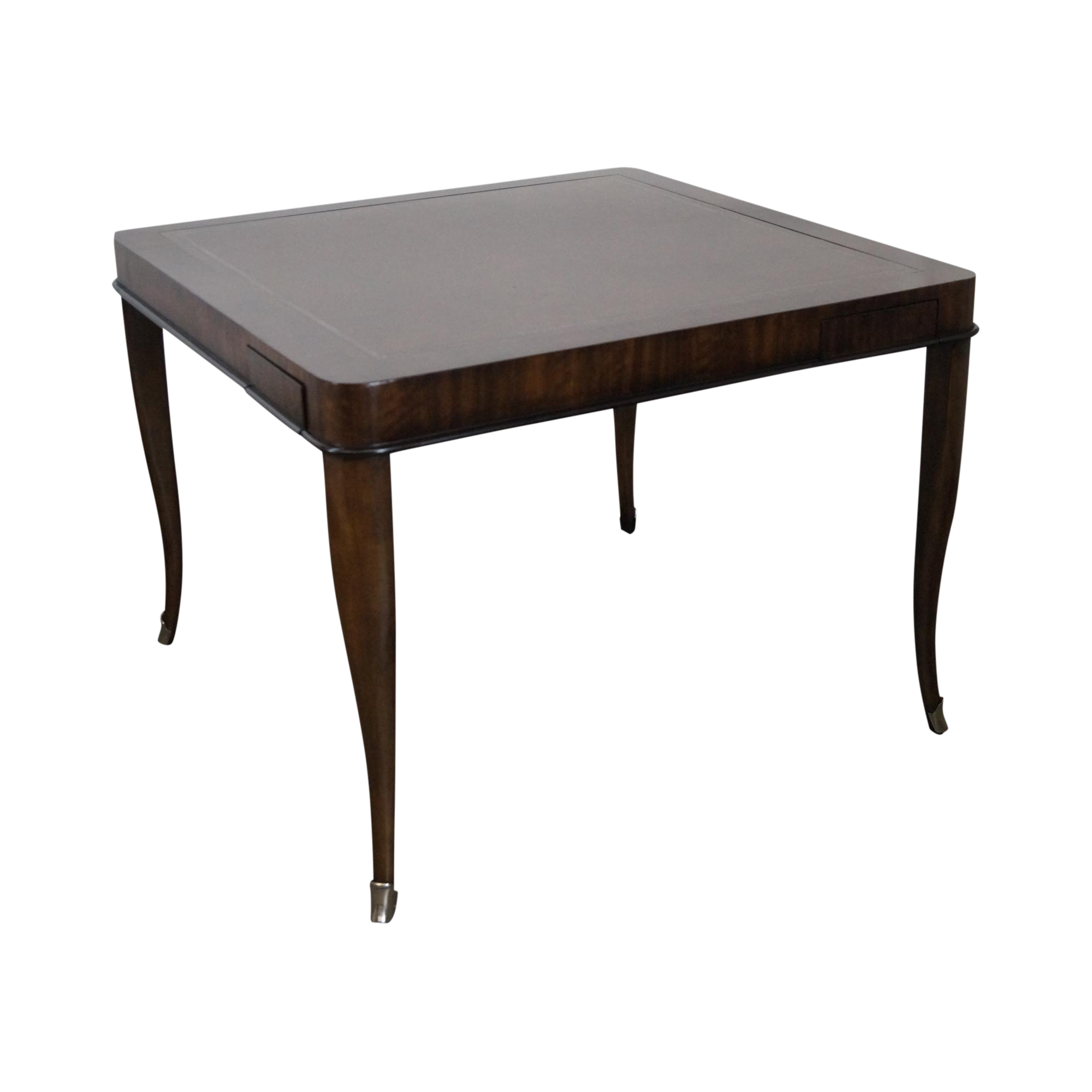 Ferguson Copeland Regency Style Leather Top Laslo Game Table Chairish