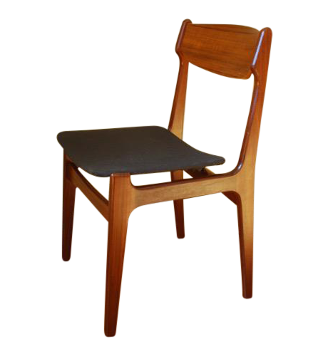 danish modern teak side chair chairish