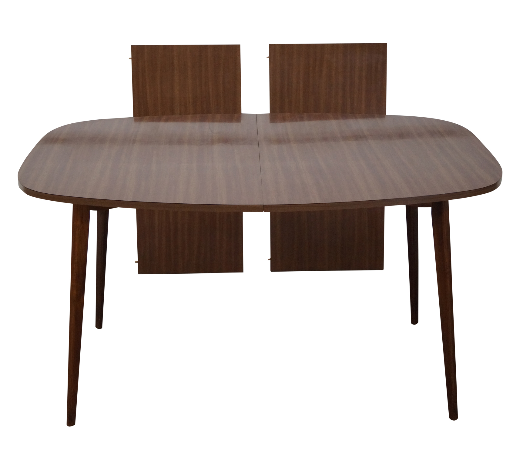 Mid Century Walnut Dining Table With Laminate Top Chairish
