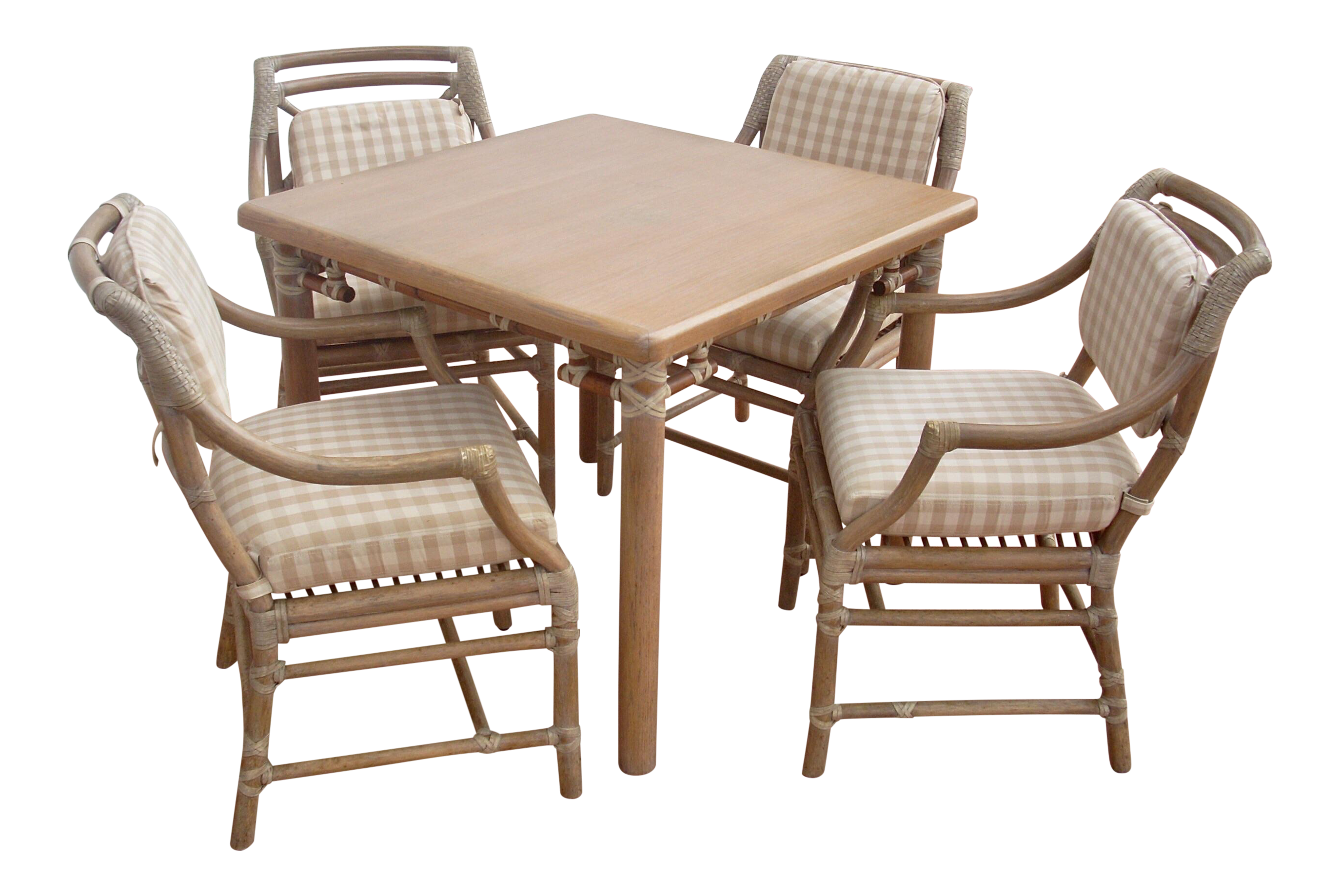 McGuire Game Table & Chairs Set of 5