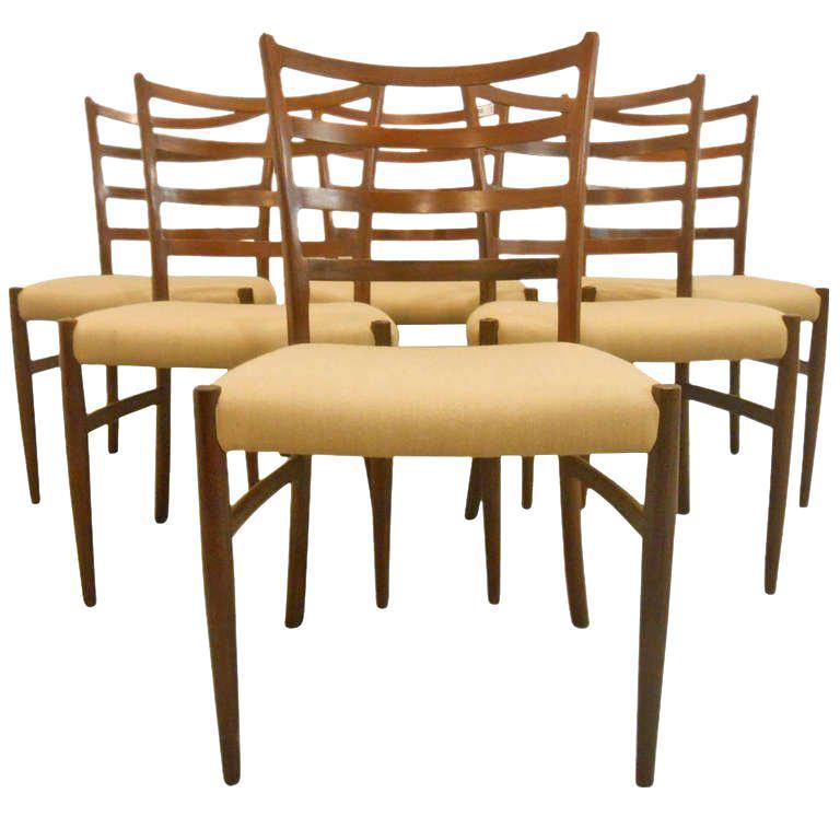 Danish Mid-Century Modern Ladderback Dining Chairs