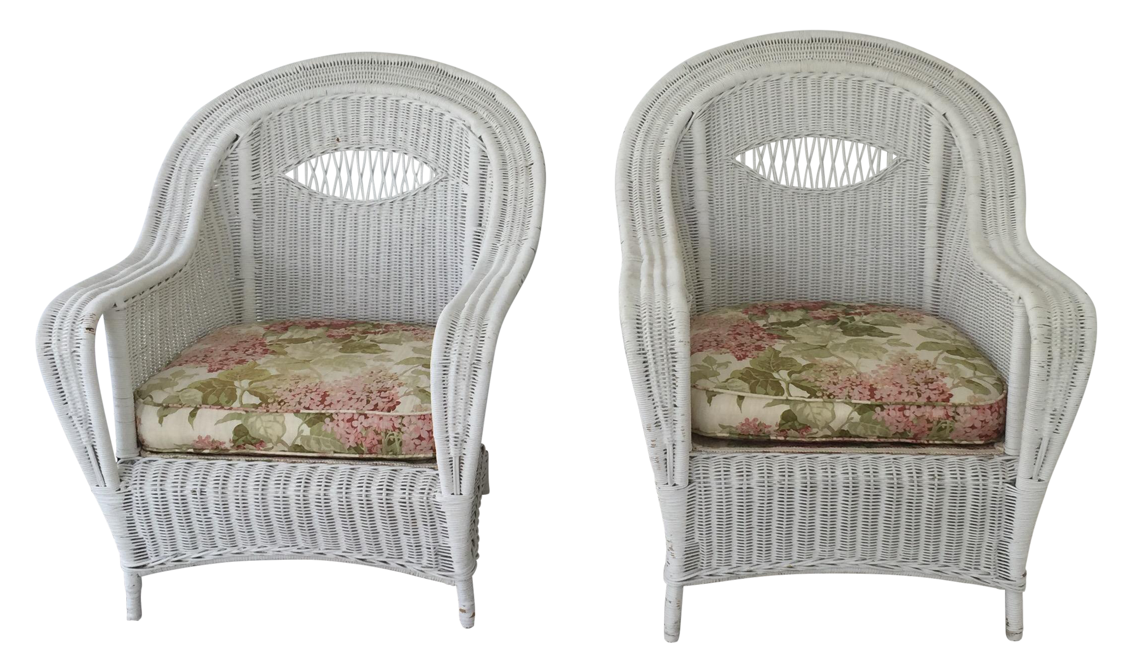 Antique wicker lounge chair - Image Of Antique Wicker Lounge Chairs A Pair