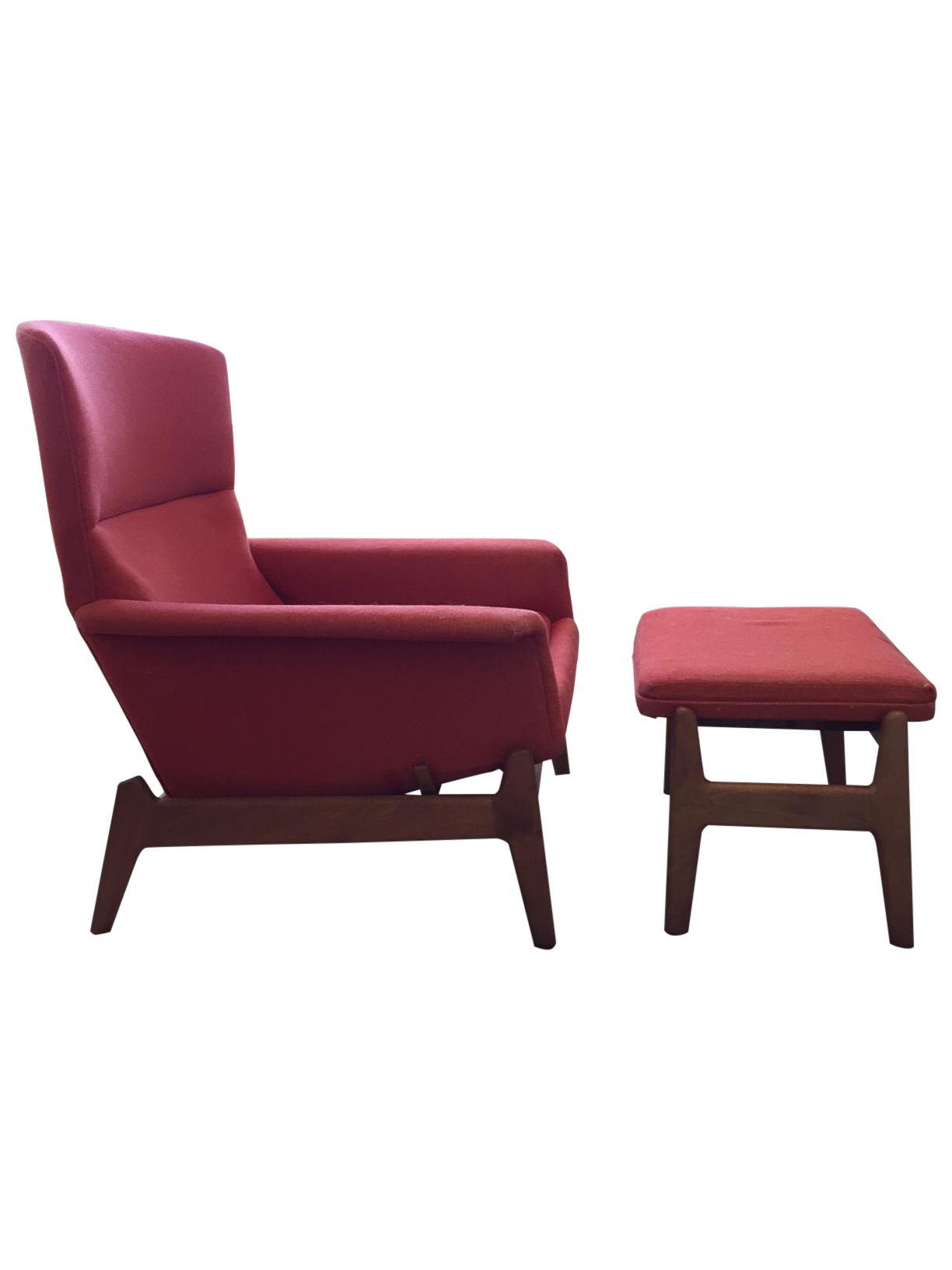 Dux Mid Century Reclining Lounge Chair & Ottoman