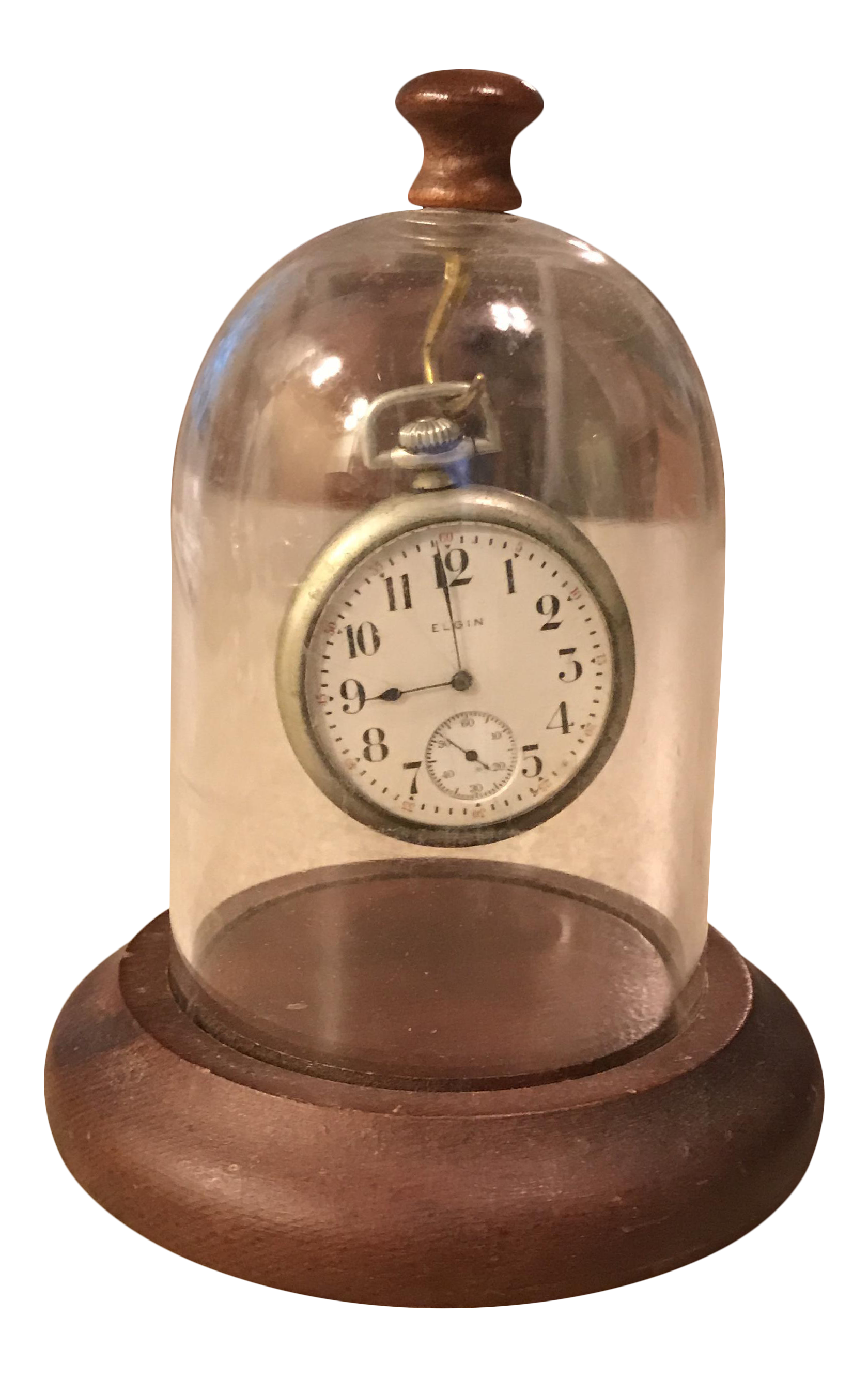 Antique Elgin Pocket Watch In Display Case Chairish