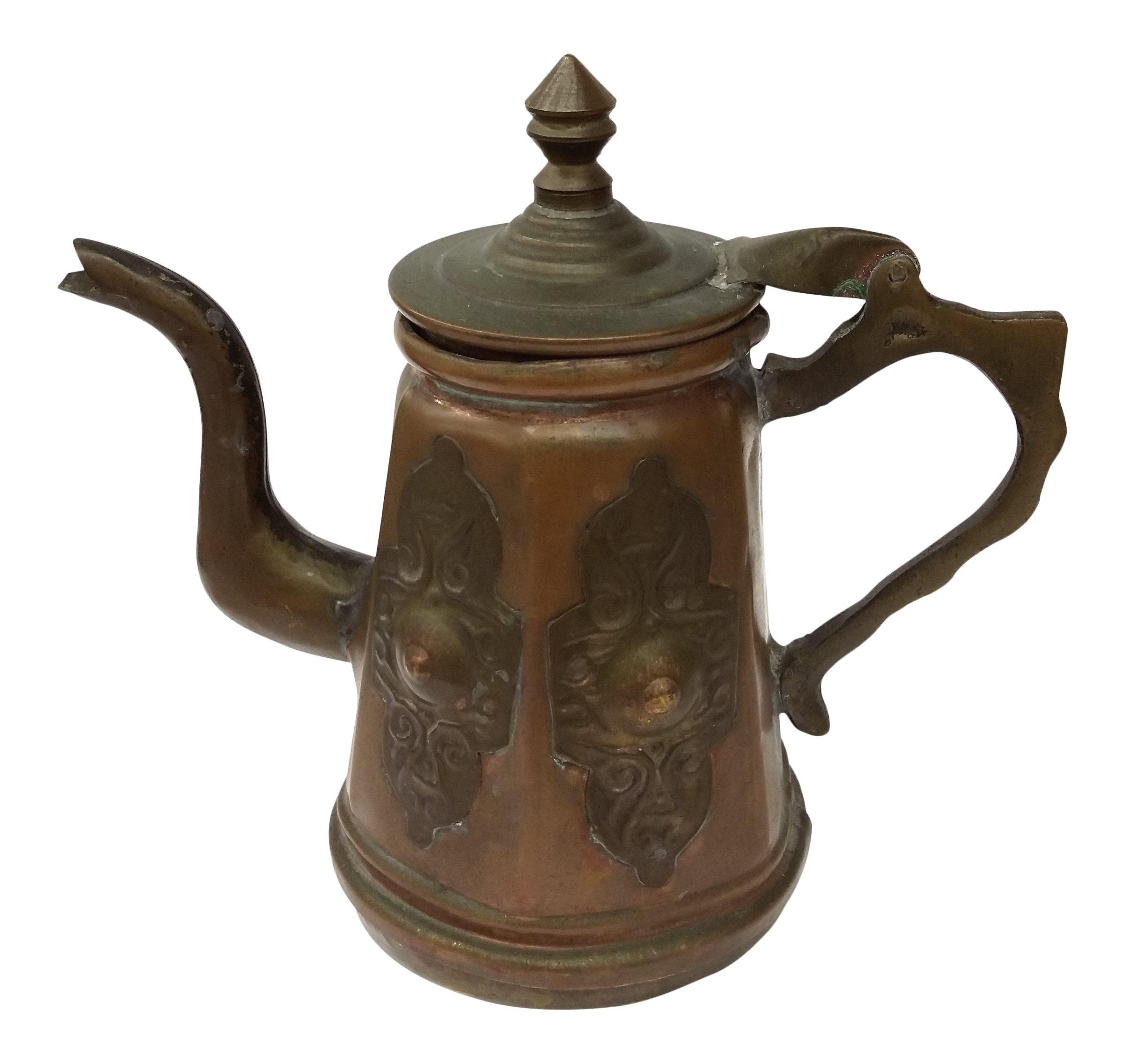 Antique Persian Copper Amp Brass Coffee Pot