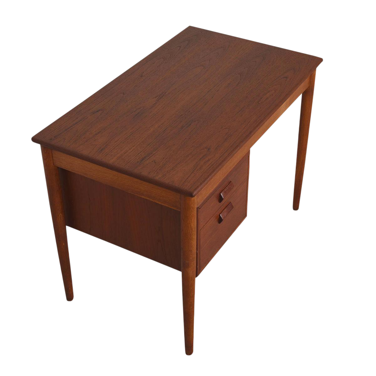 Early danish modern compact writing desk in teak by borge