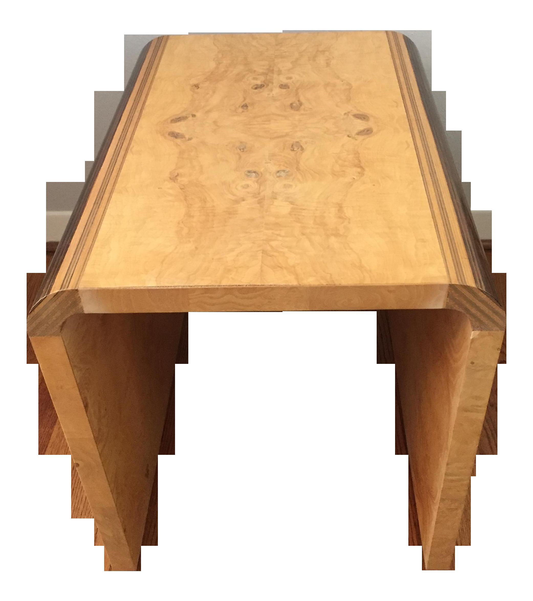 Henredon Side Table Bench In Olive Burl Chairish